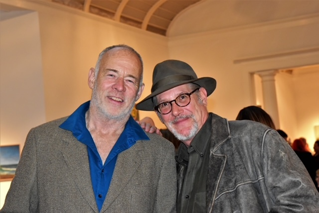 Curator Paton Miller with artist Charles Waller, who died last year, at the