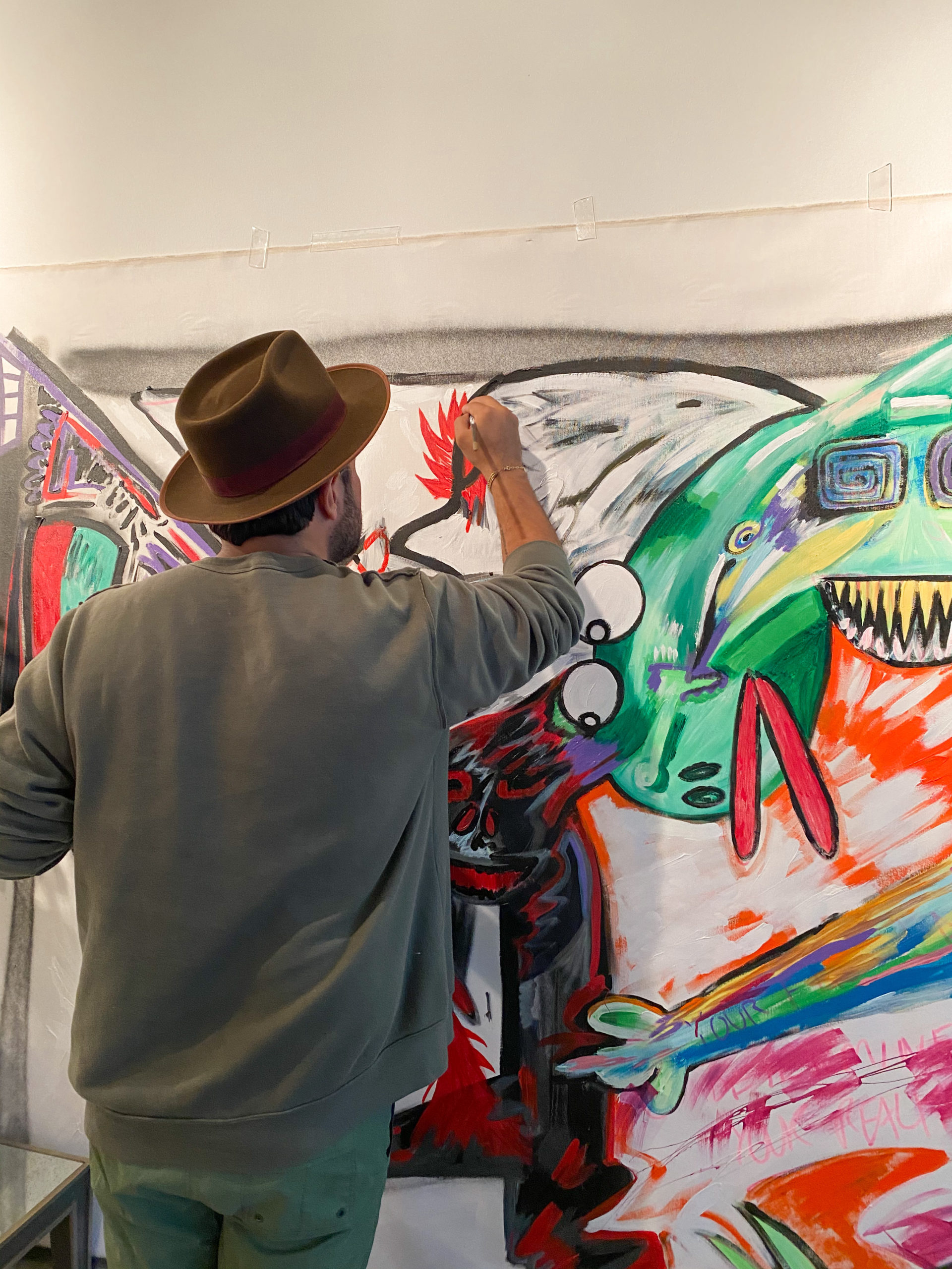 Patrick Peters at work in his studio.