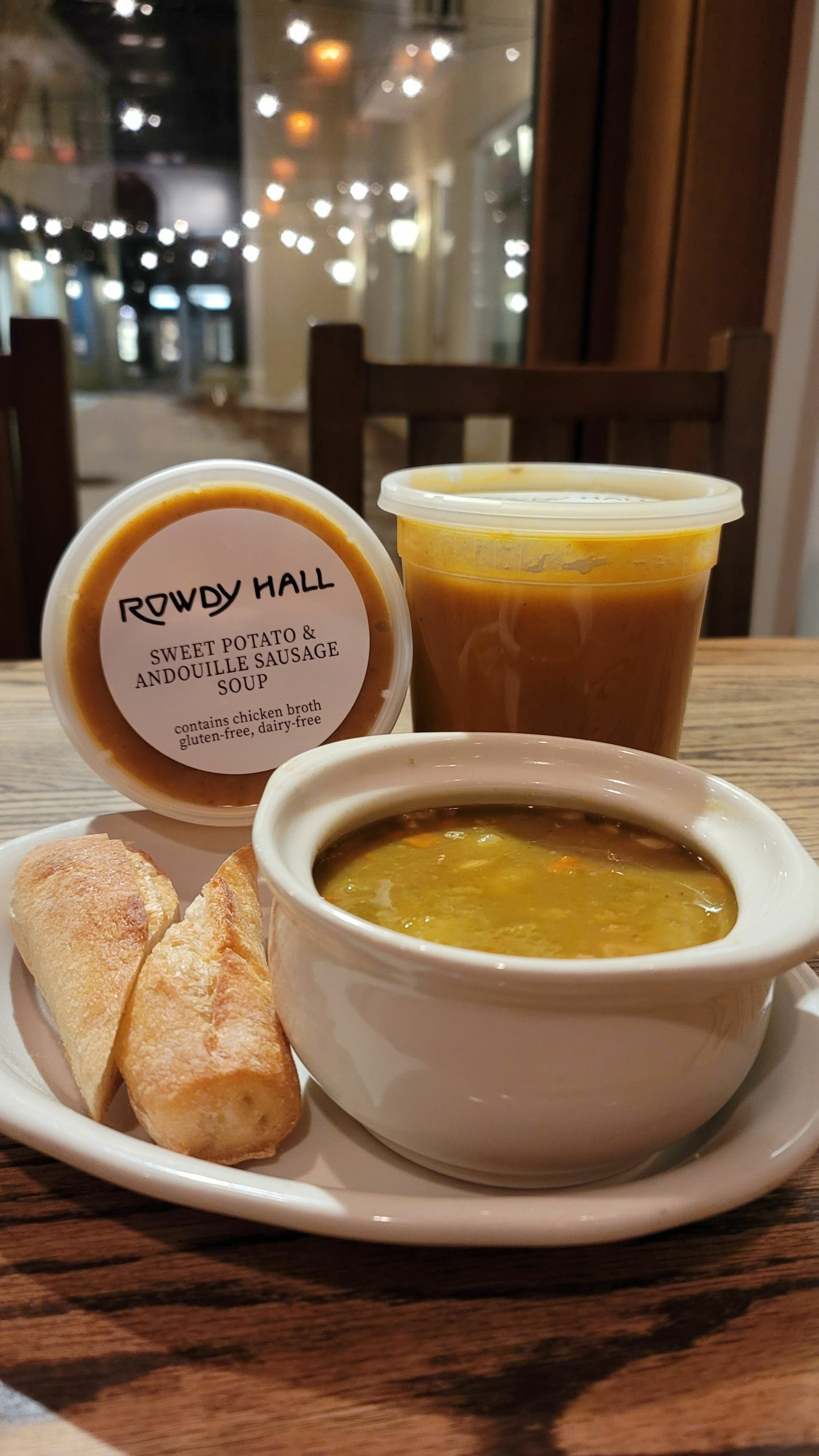 East Hampton's Rowdy Hall is offering soup to go.