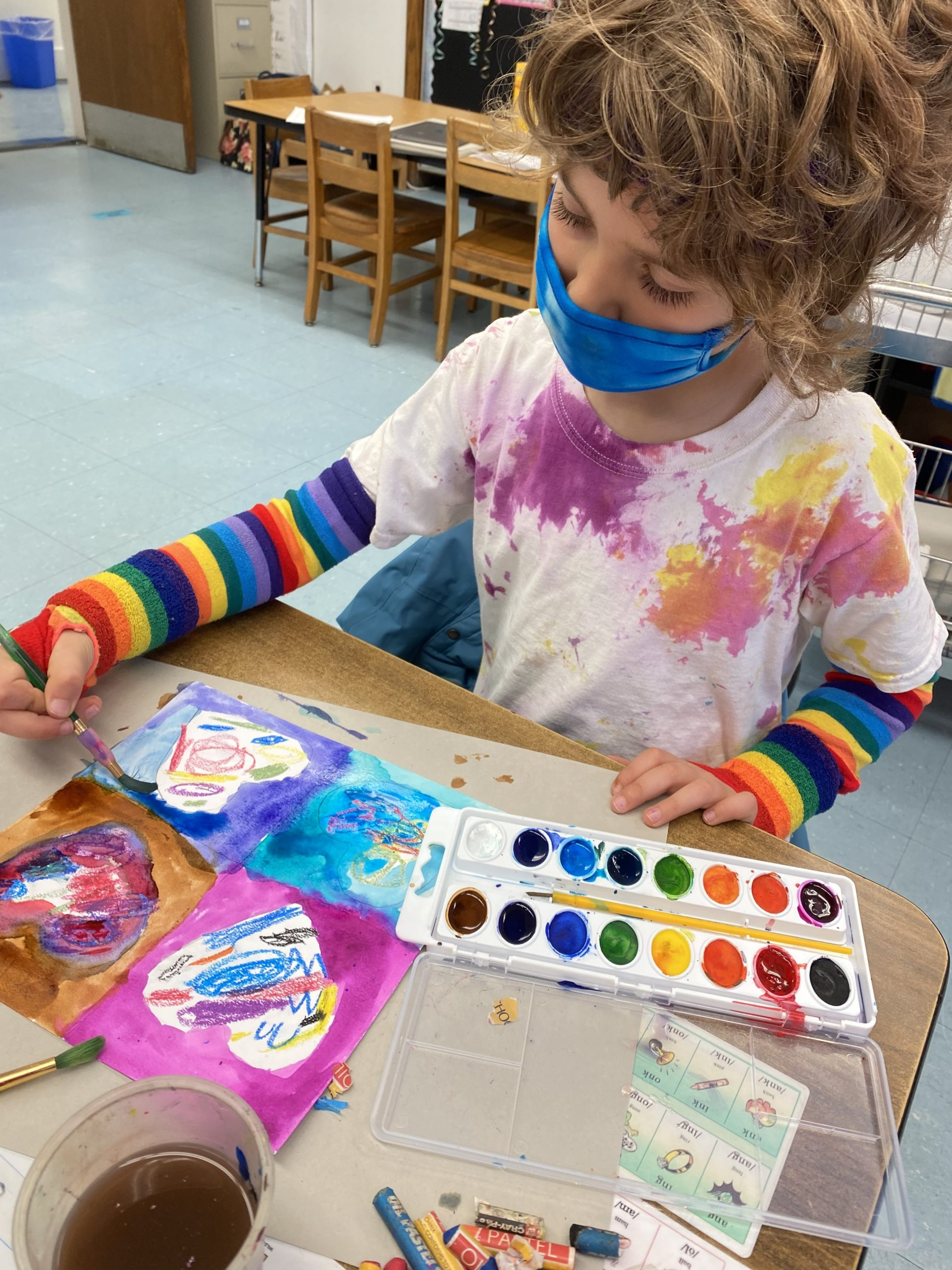 """First grade students, including Jonah Stallman, were """"visions in rainbows,"""" on Terrific Tuesday."""