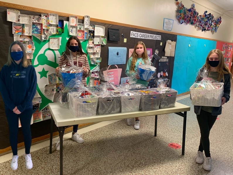 Westhampton Beach Middle School Student Council members recently donated 11 gift baskets to health care workers at Stony Brook Southampton Hospital's COVID-19 units. The baskets were made possible through generous donations from students, faculty and community members.