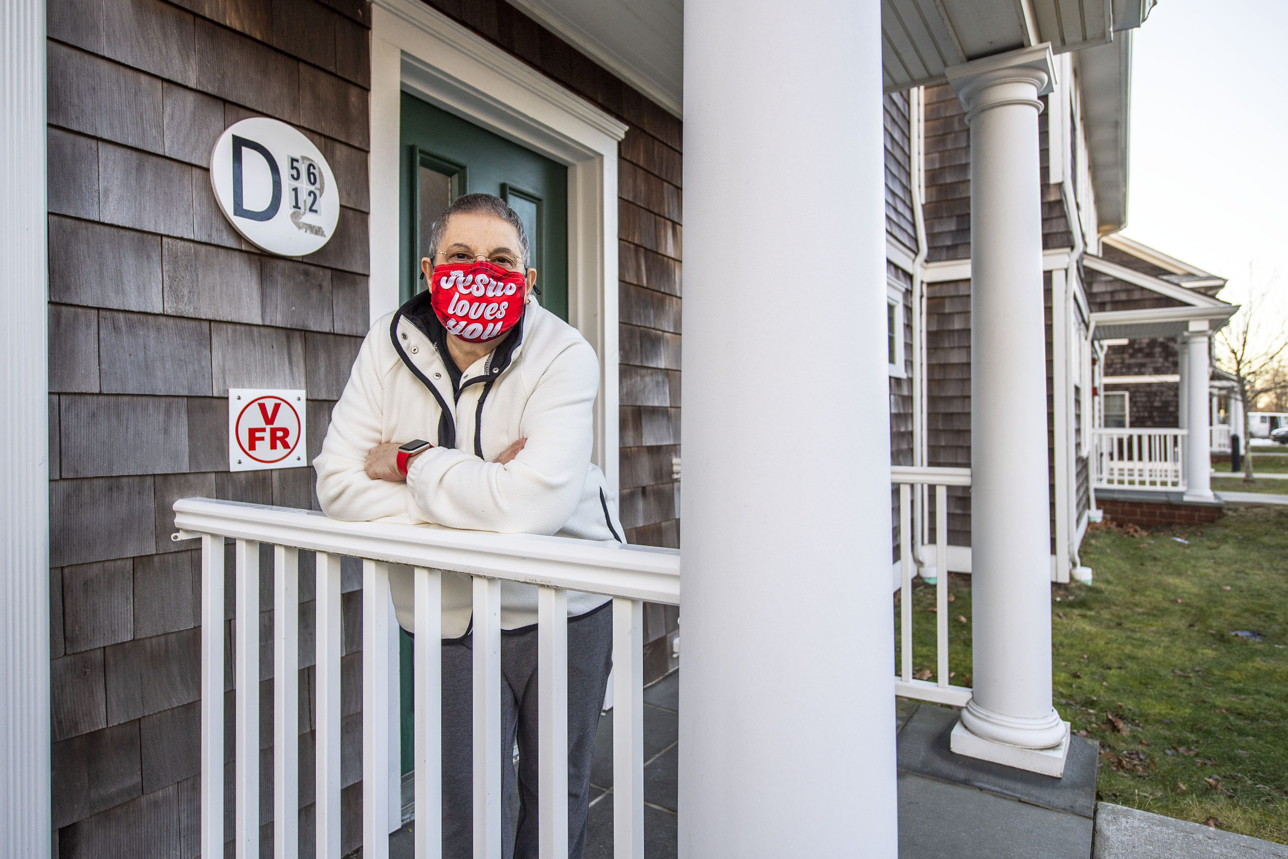 Herme Barbagallo lives at the St. Michael's senior housing complex in Amagansett and has not been able to get a vaccination appointment through the state portals.