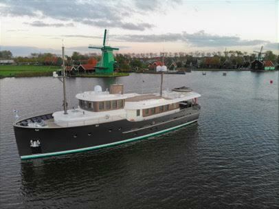 The Fog Warning also sells Hartman Yachts, their designs reminiscent of old school ocean liners.