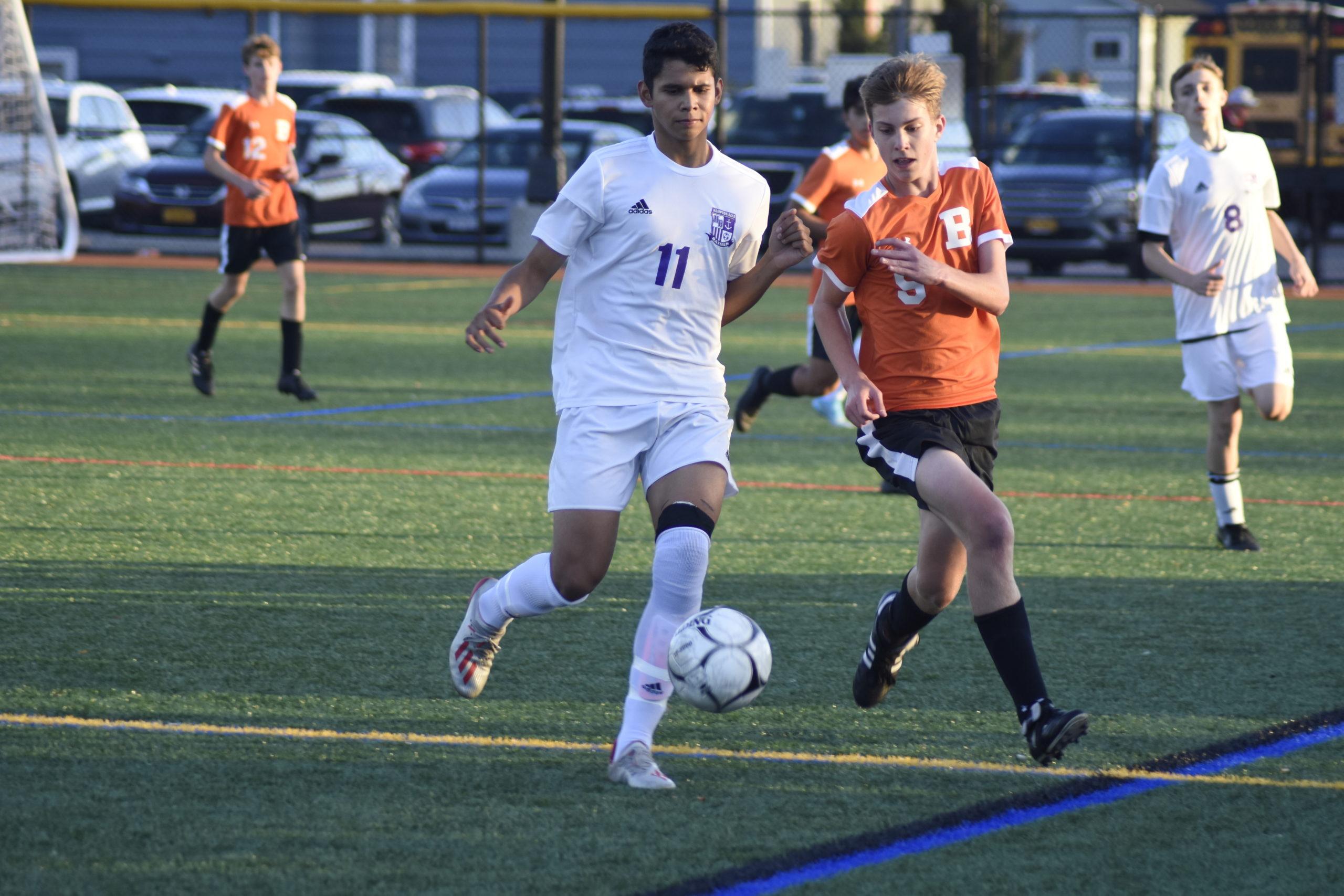 Darwin Fernandez is one of many key returning starters for the Hampton Bays boys soccer team this season.