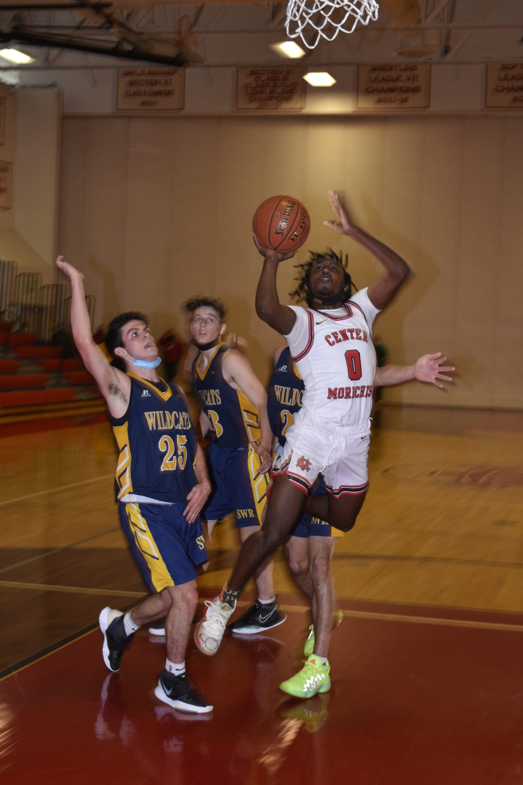 Center Moriches senior Dayrien Franklin scored a team-high 20 points in Sunday's victory.