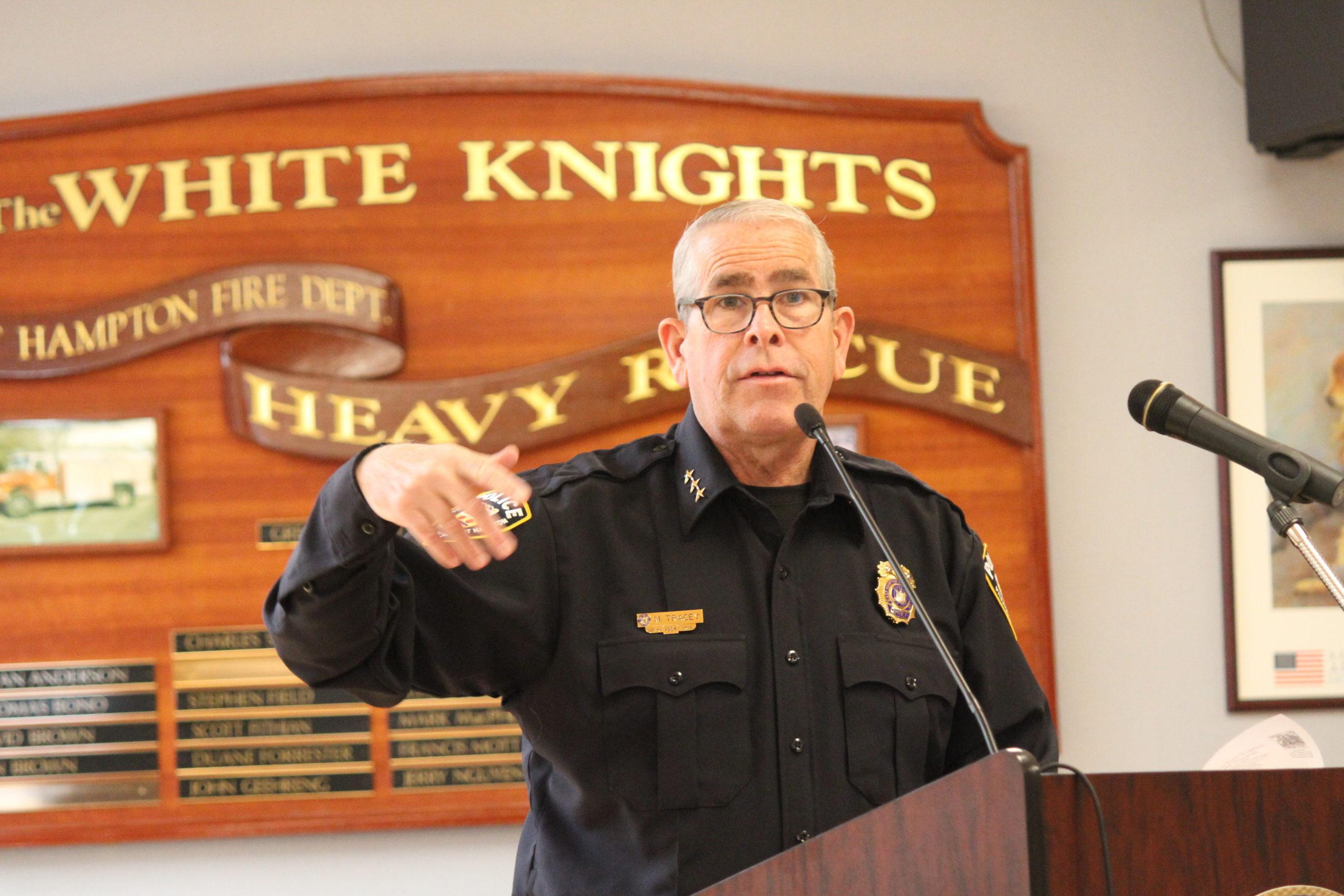 East Hampton Village Police Chief Michael Tracey