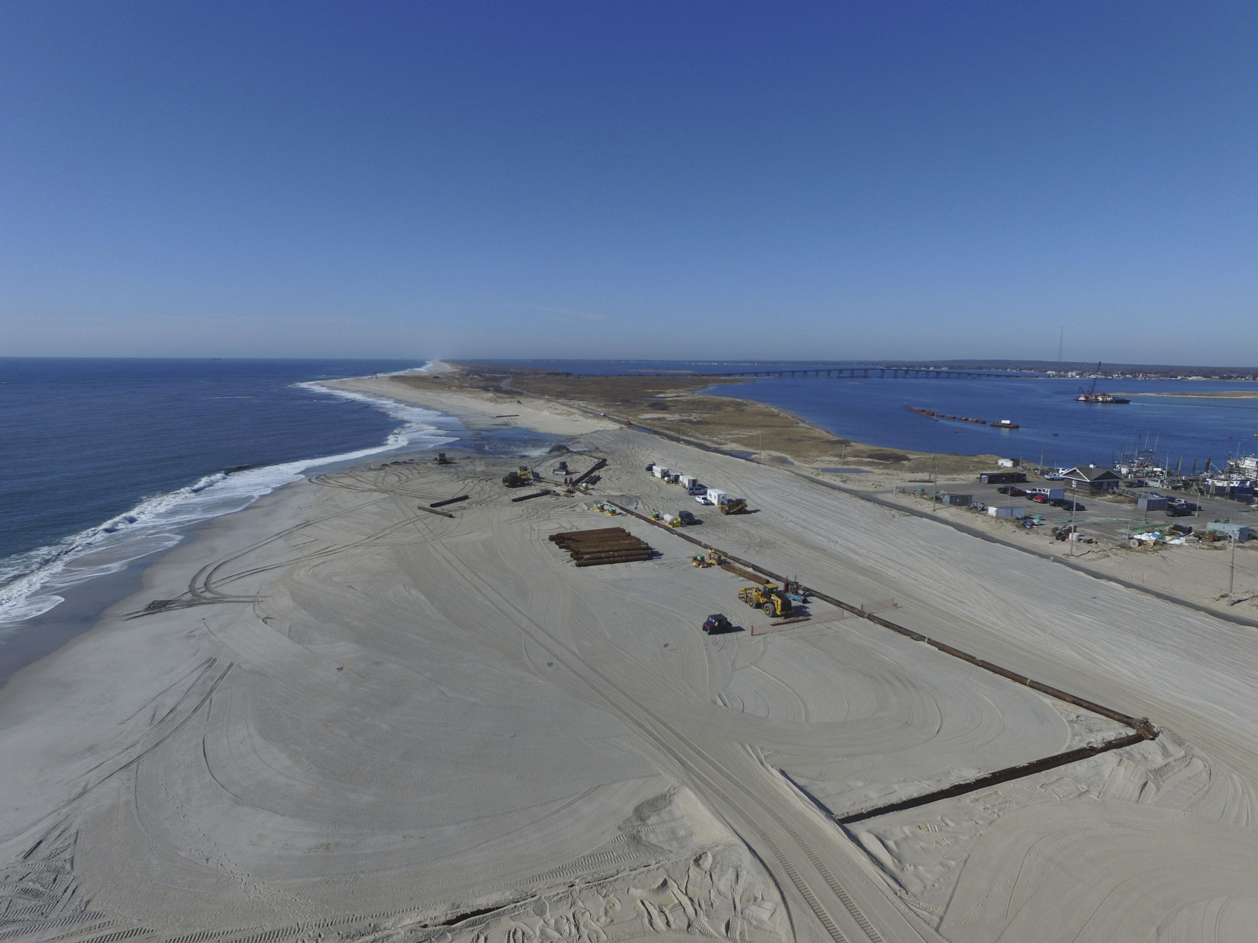 The federal Army Corps of Engineers told local officials this week that the South Fork has been bumped down the priority list for beach nourishment and will not see significant beach nourishment until 2023.