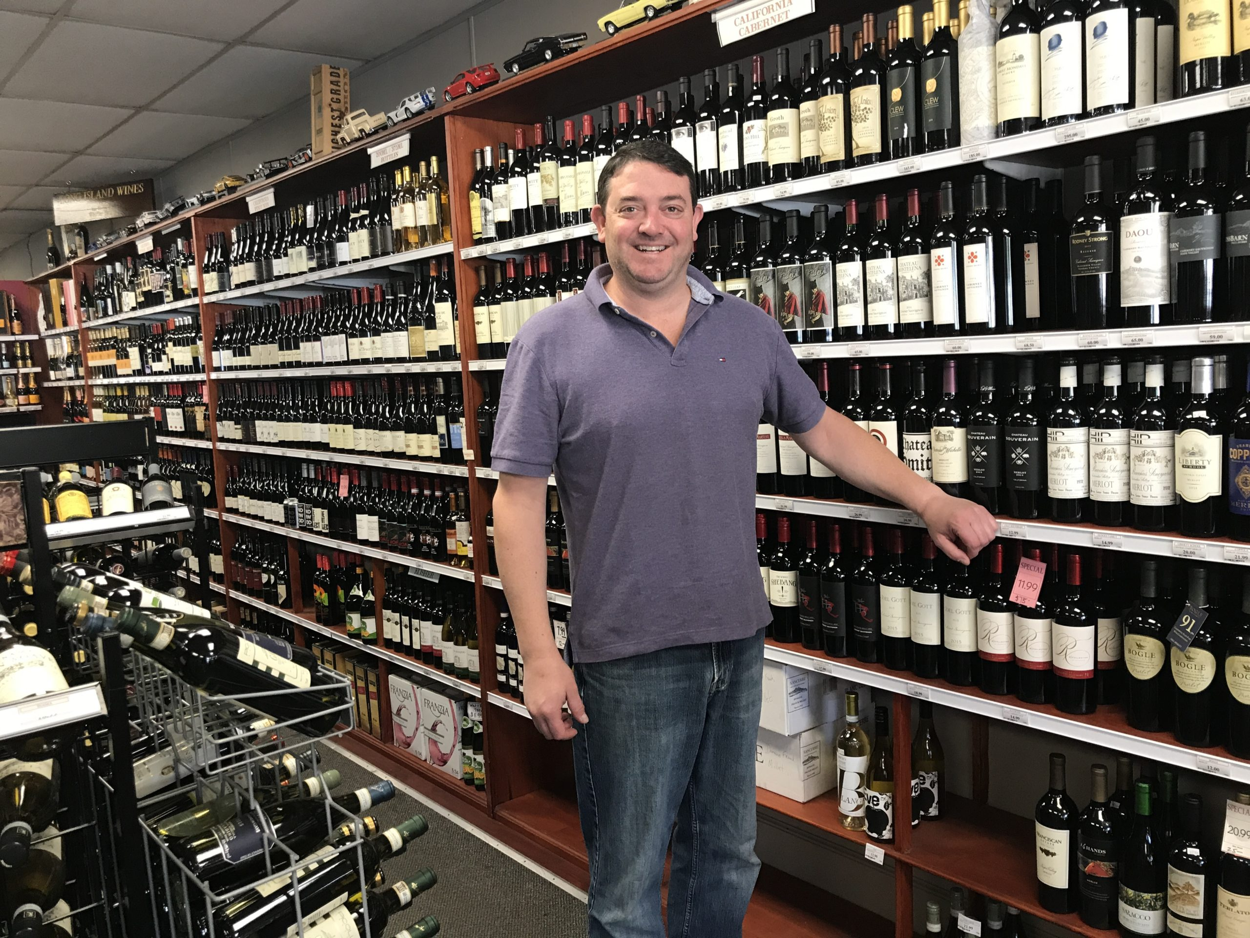 David Churchill, owner of Churchill Wines & Spirits in Bridgehampton, in 2017.