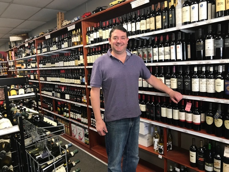 David Churchill, owner of Churchill Wines & Spirits in Bridgehampton.