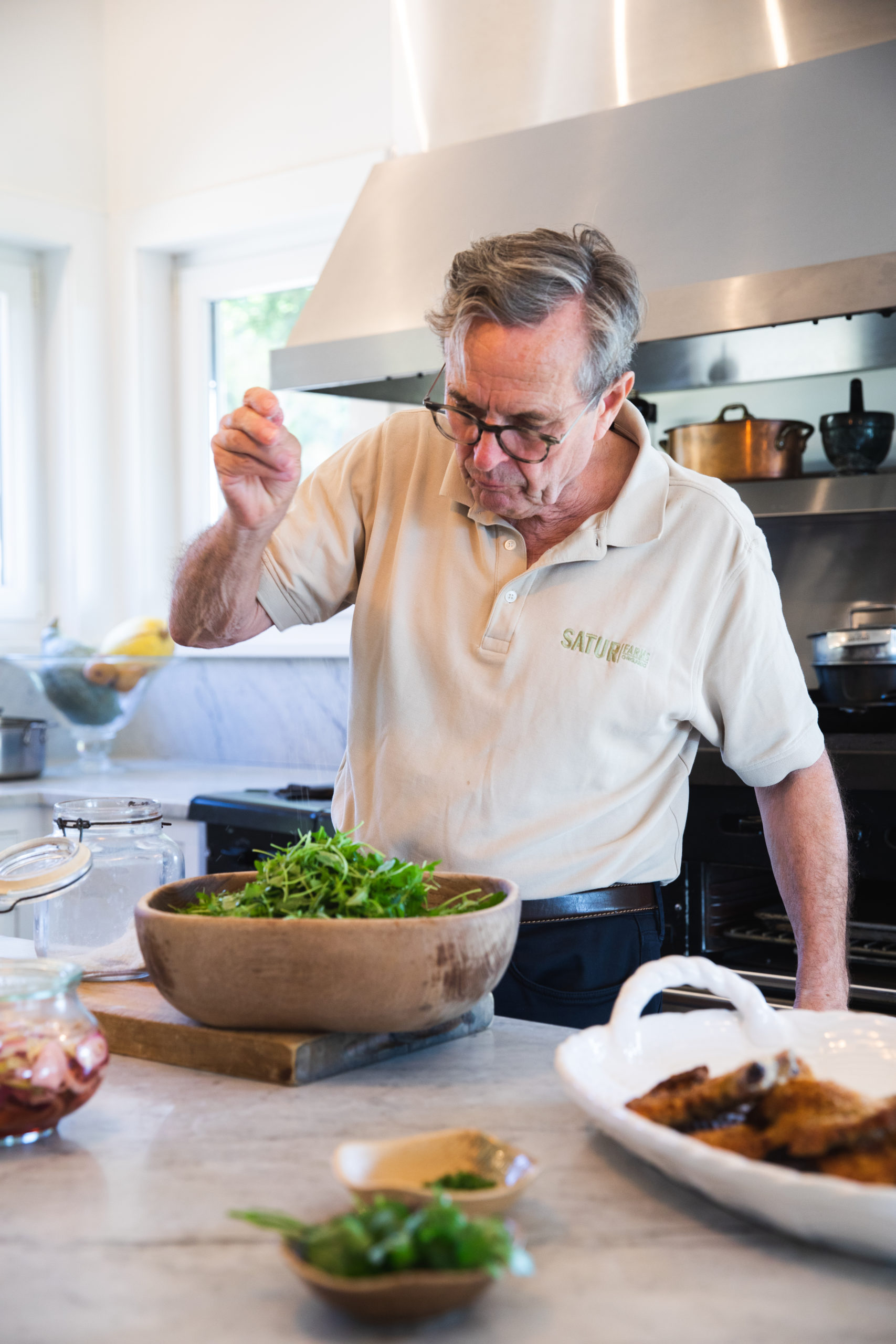 Chef Eberhard Müller contributed several recipes to the May volume of the Loaves & Fishes Farm Series.