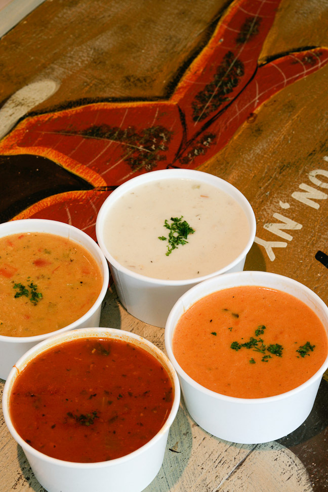 A selection of Bostwick's chowders.