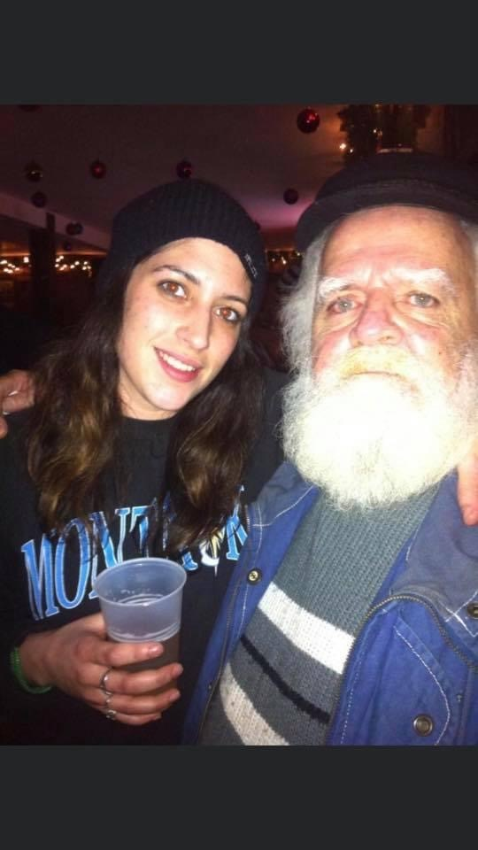 Joseph 'Flapjaws' O'Connor and his great-niece, Jade O'Connor.