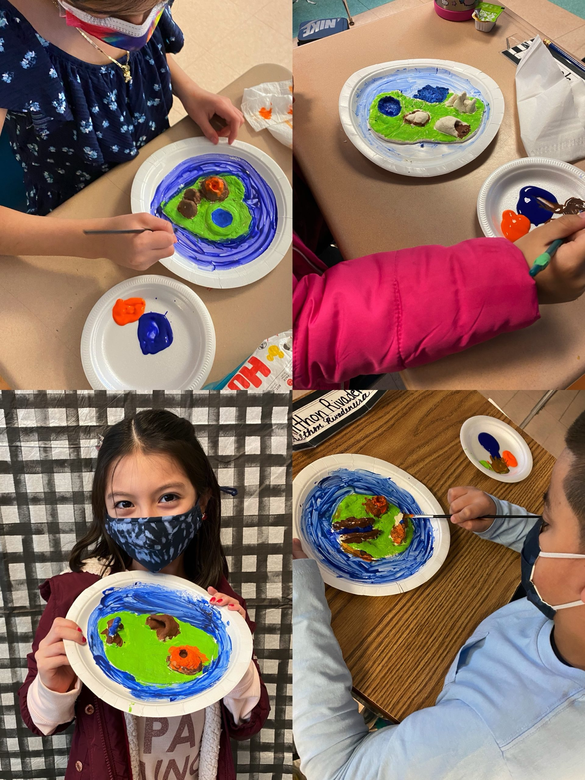 Hampton Bays third grade students recently designed their own islands as part of a science unit.