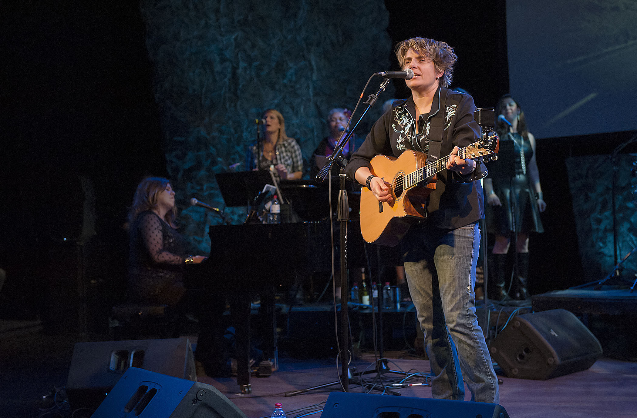 Inda Eaton and Friends performing at Bay Street Theater in Sag Harbor in 2016. MICHAEL HELLER