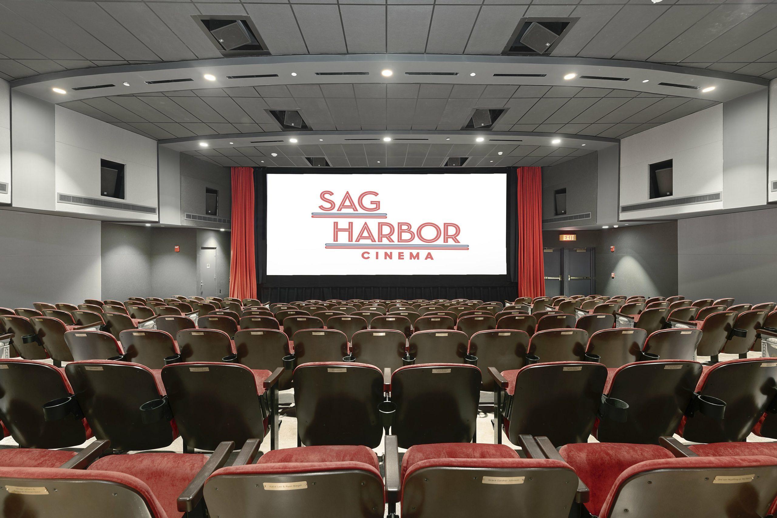 A sneak-peek inside the main theater at the new Sag Harbor Cinema.