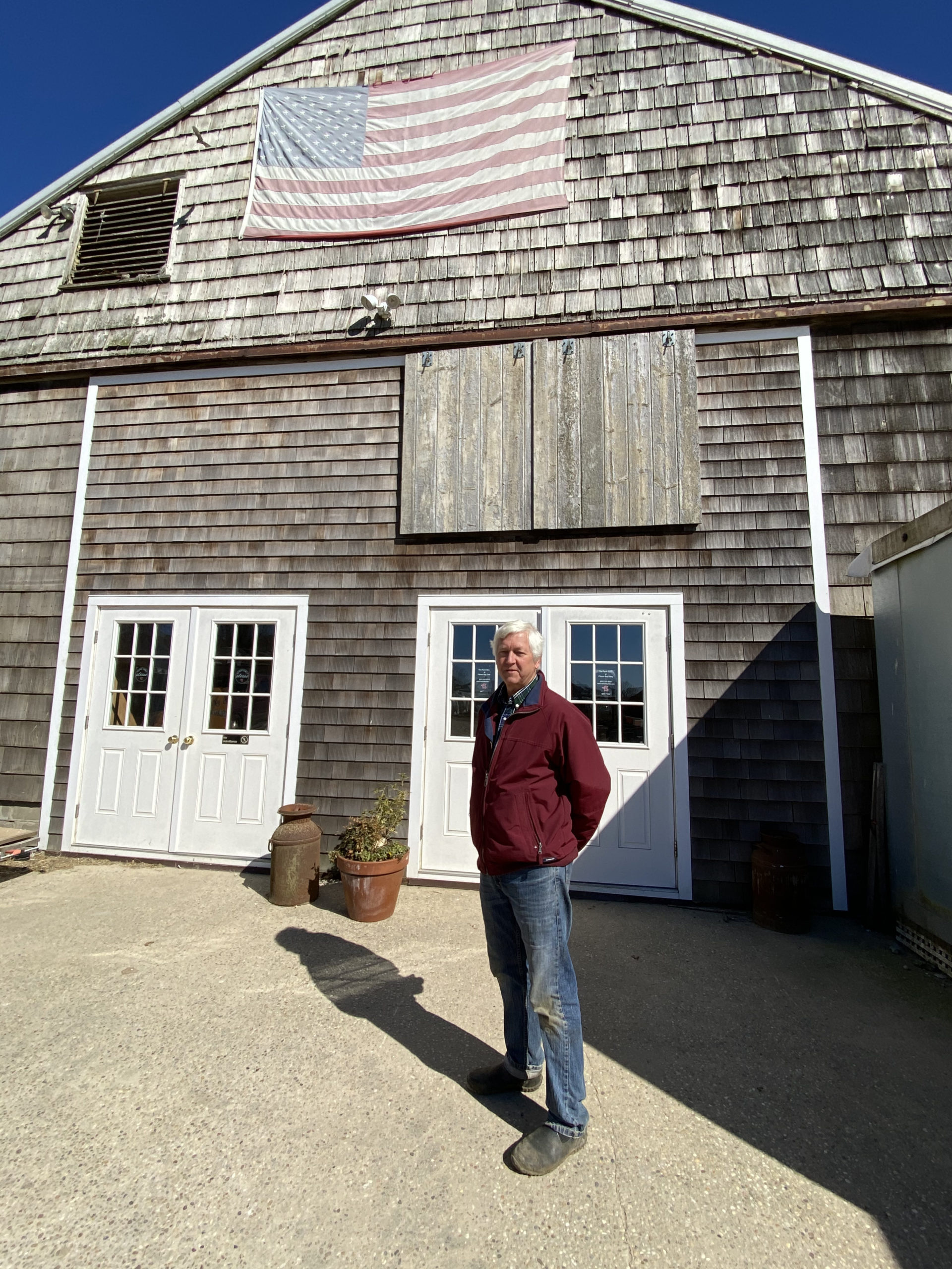 Art Ludlow outside the store at Mecox Bay Dairy