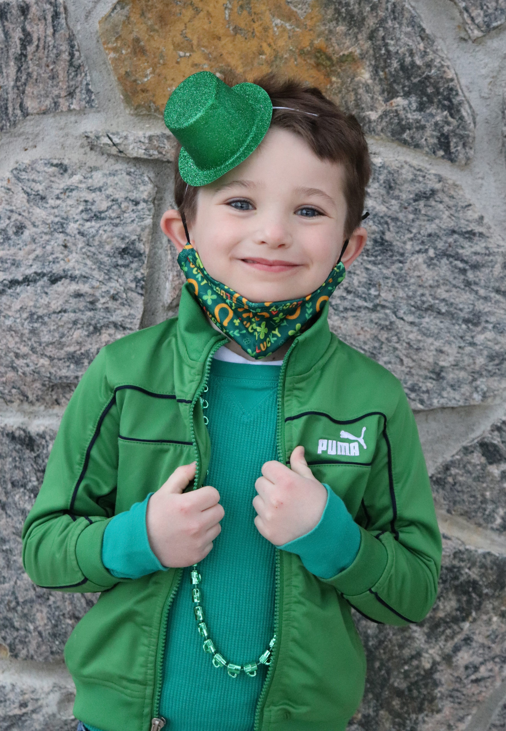 First-grade student, Christopher Lynch, prepares for Raynor Country Day School's first annual Leprechaun Leap. COURTESY RAYNOR COUNTRY DAY SCHOOL