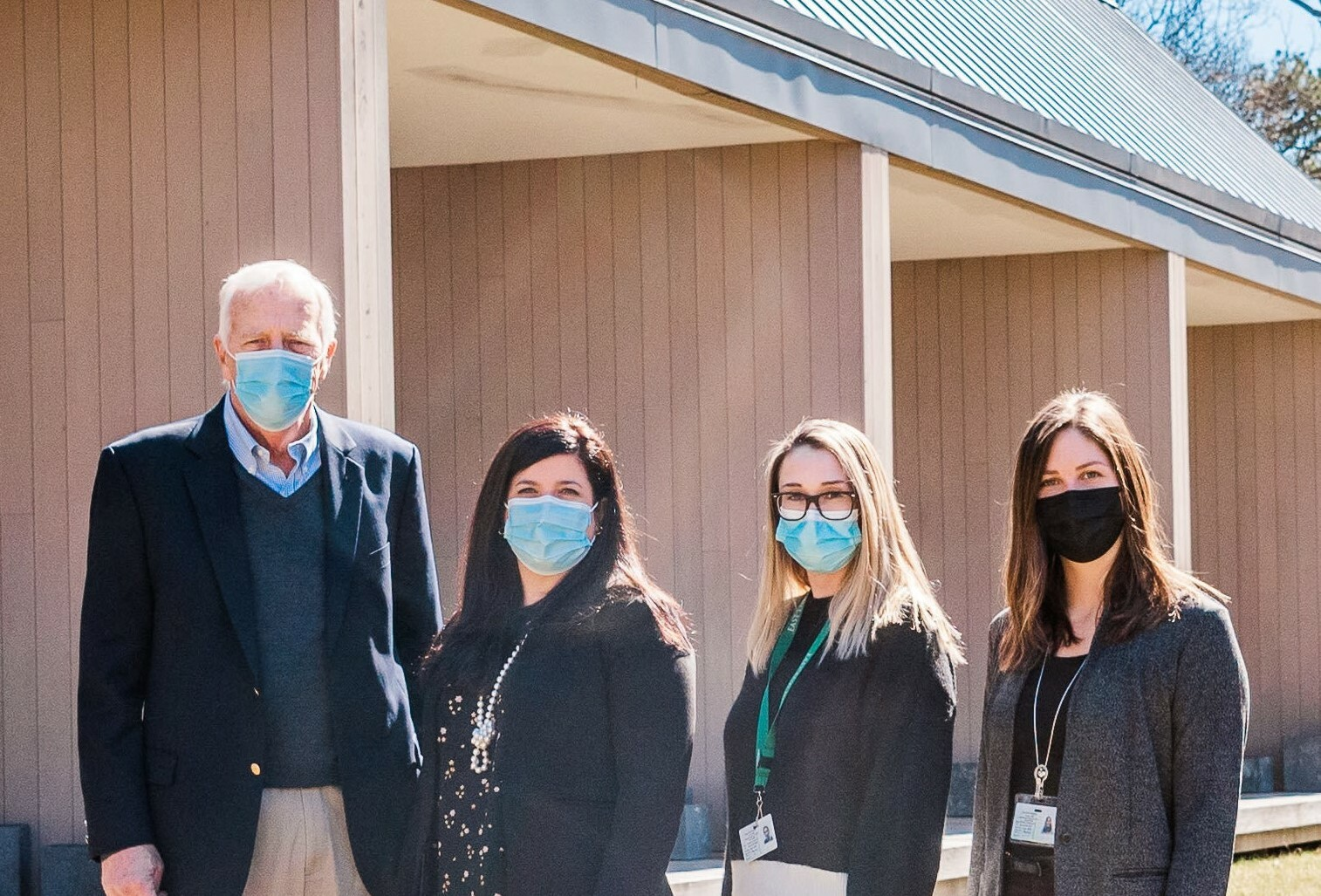 Caitline O'Conner, Kanas Center for Hospice Care Nurse Manager, Peter Halstead, Chairman of the Board of Directors,  Mary Crosby, President & CEO, Nicole LaMariana, Kanas Center for Hospice Care Social Worker