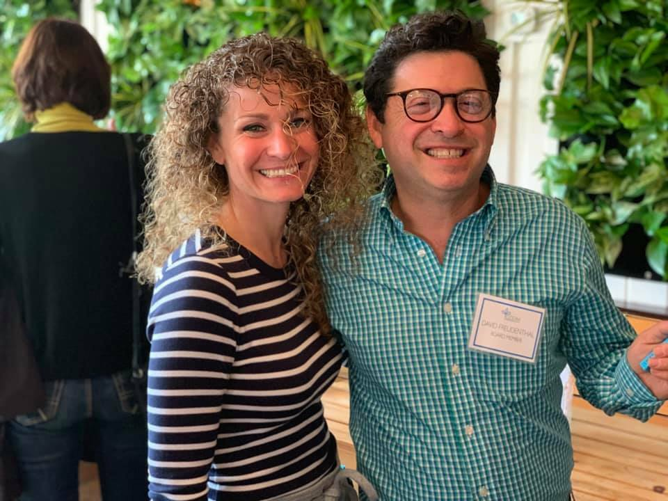 CCOM President Laura Tooman with new board chair David Freudenthal.