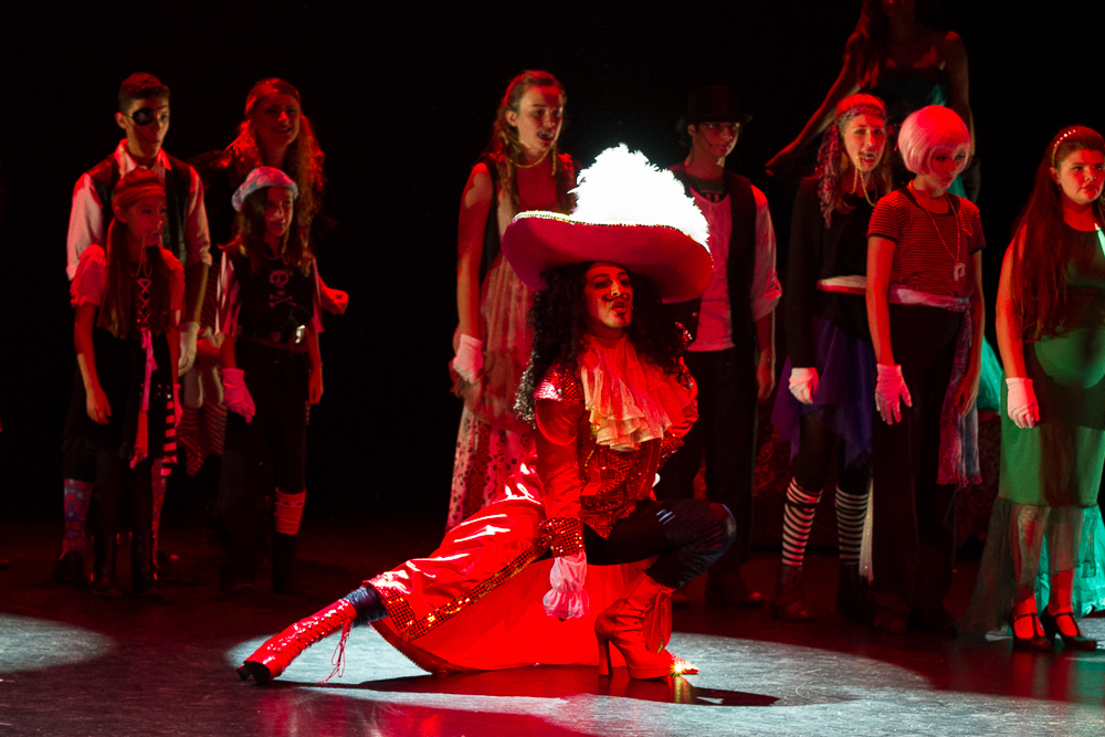 Danny Ximo performing as Capt. Hook in the OFVS performance of