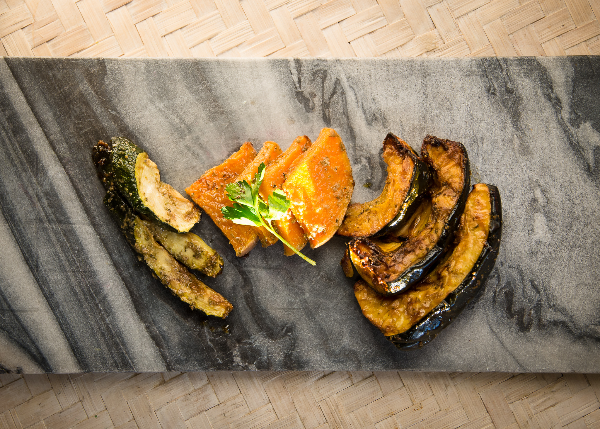 Honest Plate roasted squash and sweet potato.