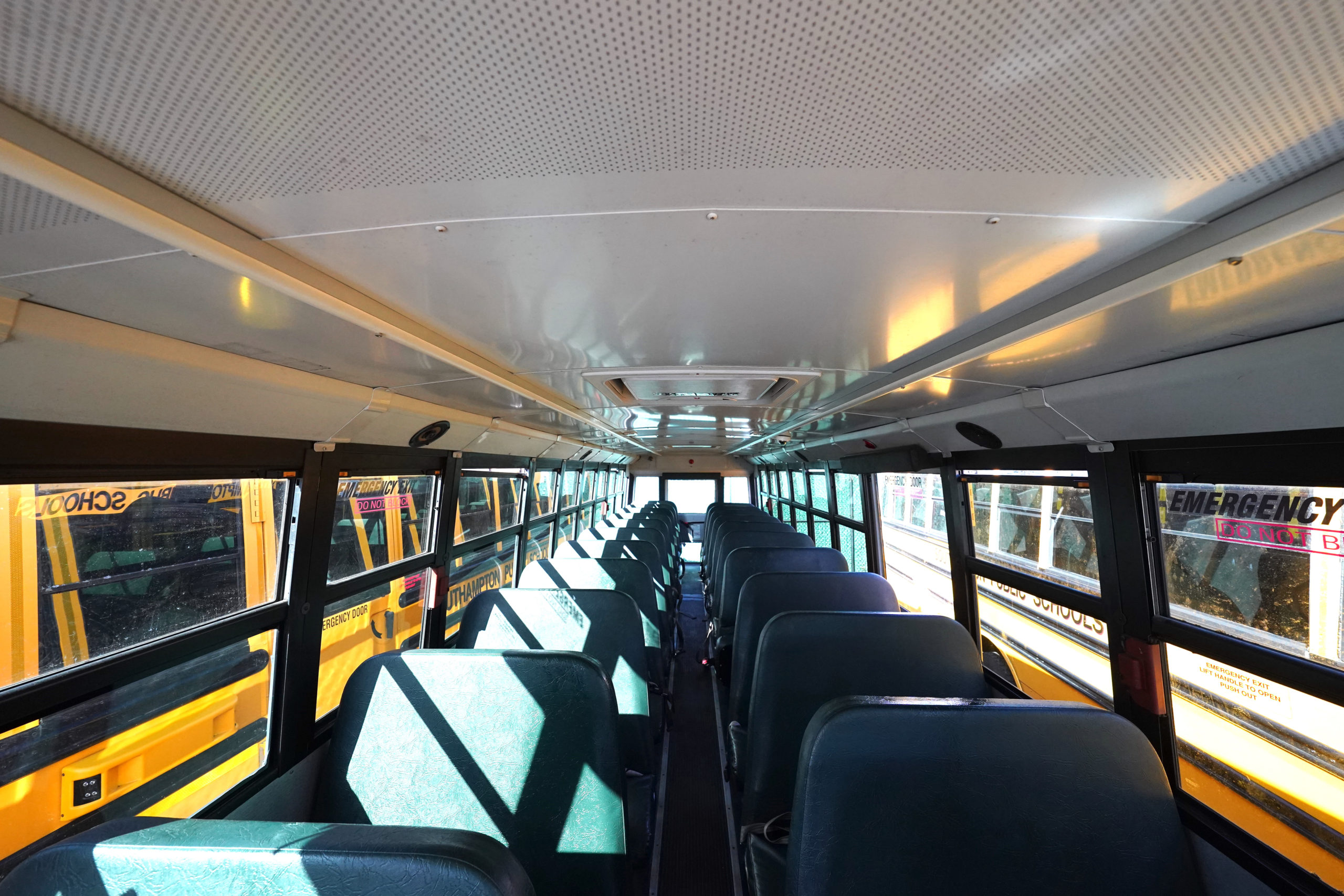 Southampton's school buses will soon be retrofitted with a new disinfecting system.            Courtesy Southampton Union Free School District