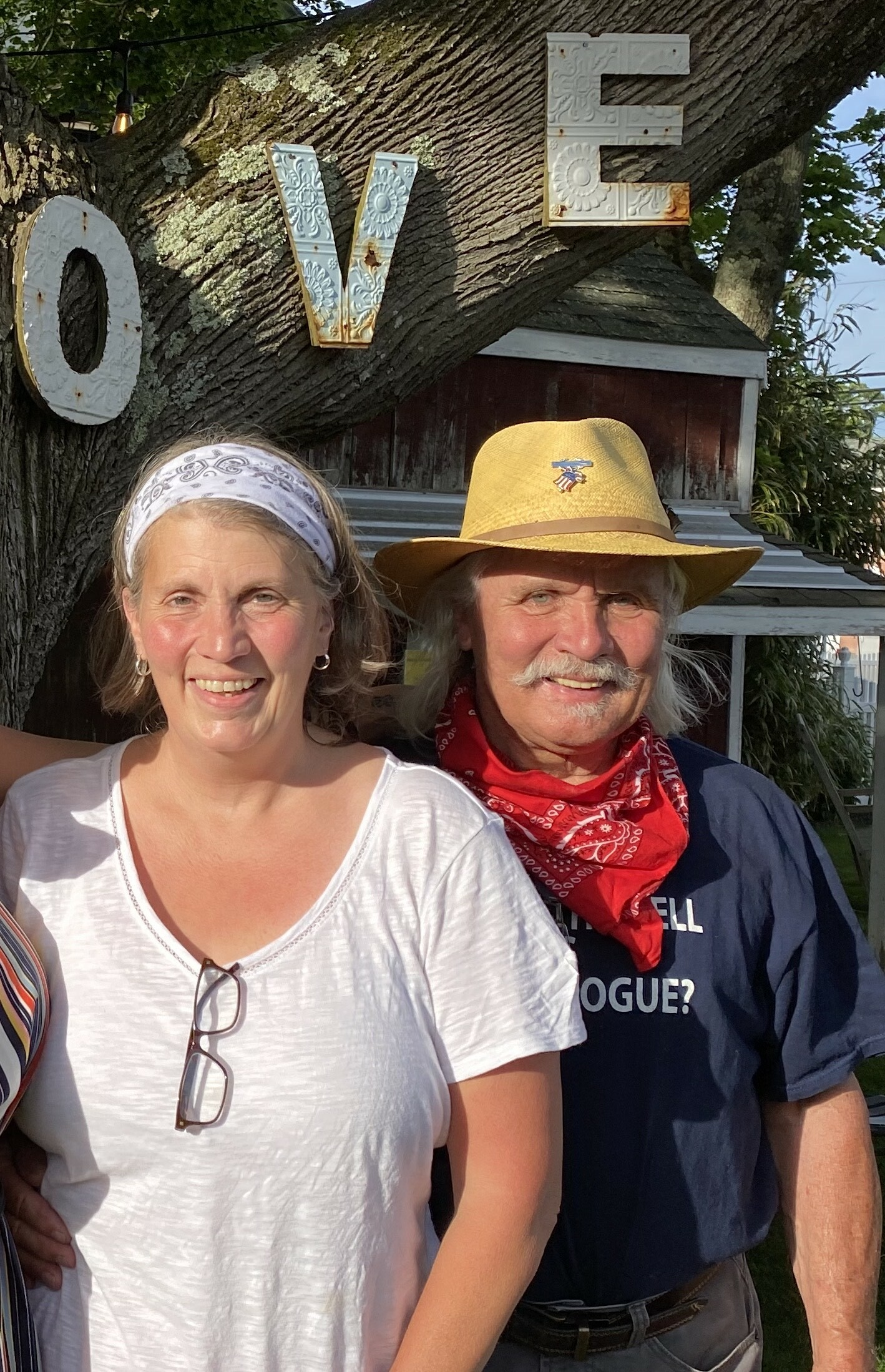 Shana and Ron Campsey at New Moon Cafe in East Quogue.