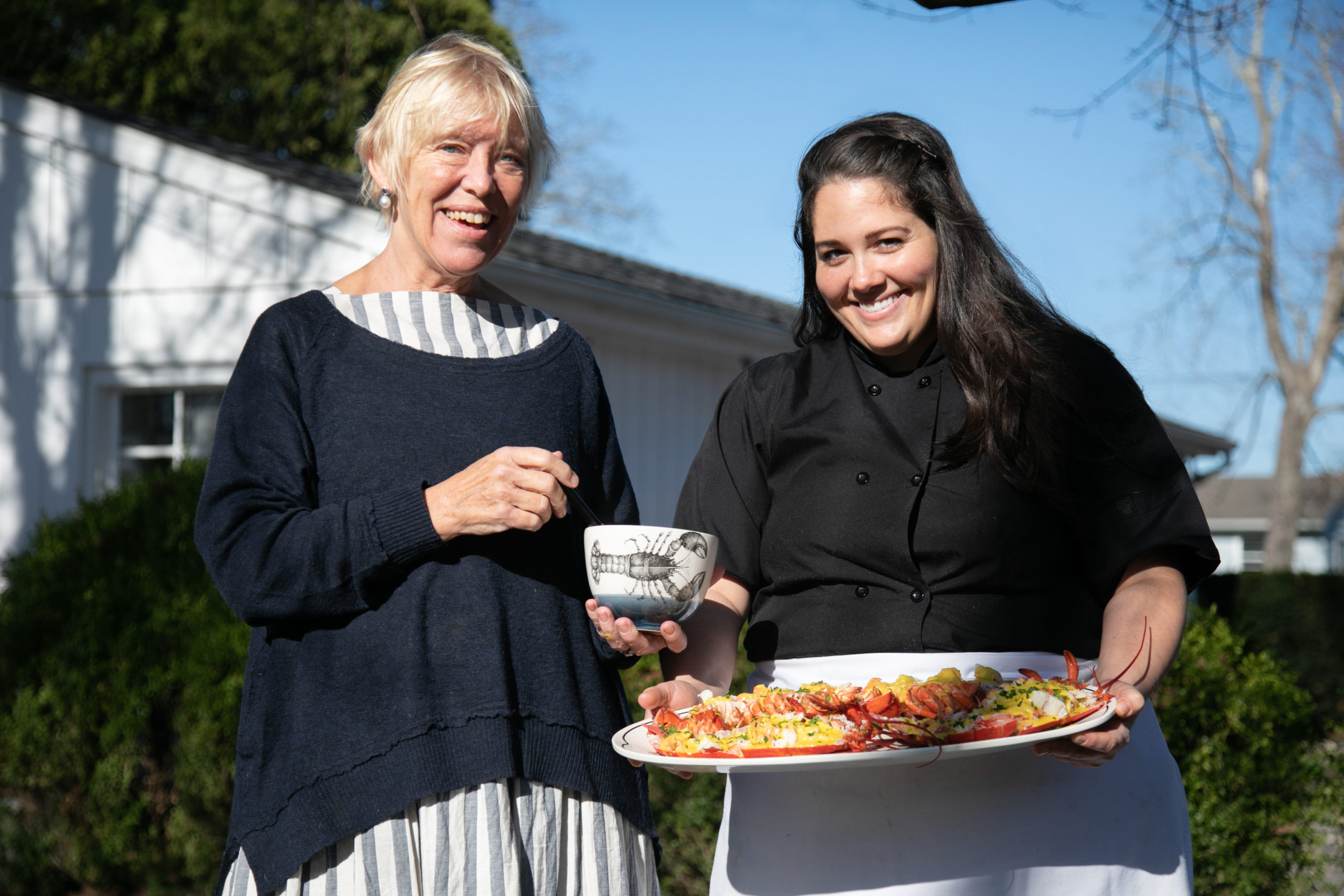 Sybille van Kempen and co-author Licia Kassim Householder.