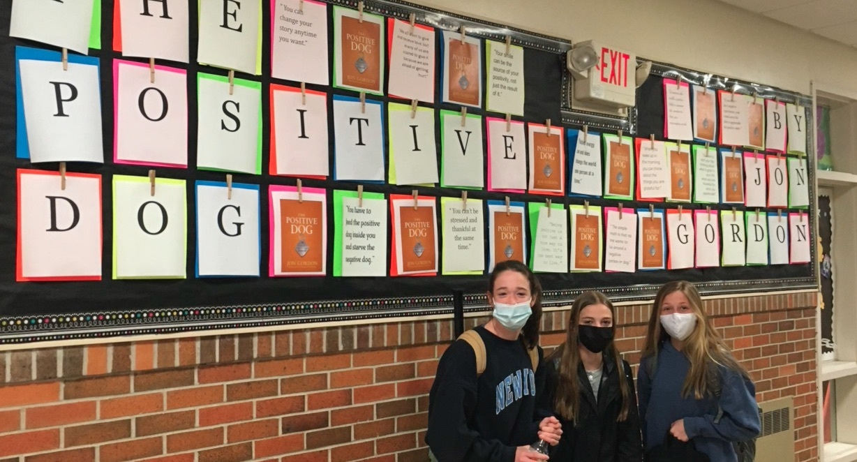 """Westhampton Beach Middle School recently completed a community read of Jon Gordon's book """"The Positive Dog: A Story About the Power of Positivity."""""""