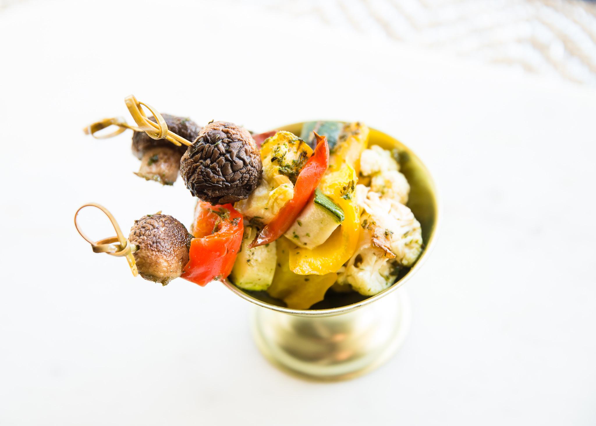 Honest Plate vegetable kabobs.