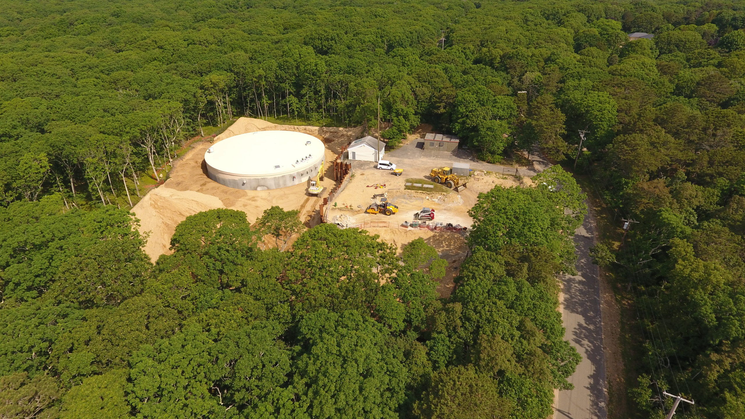 The Suffolk County Water Authority constructed a 900,000 water storage tank in the woods of northern Amagansett to help maintain water pressure during times of peak demand. The tank cost more than $2 million to construct, a cost that is shared by all SCWA customers countywide.