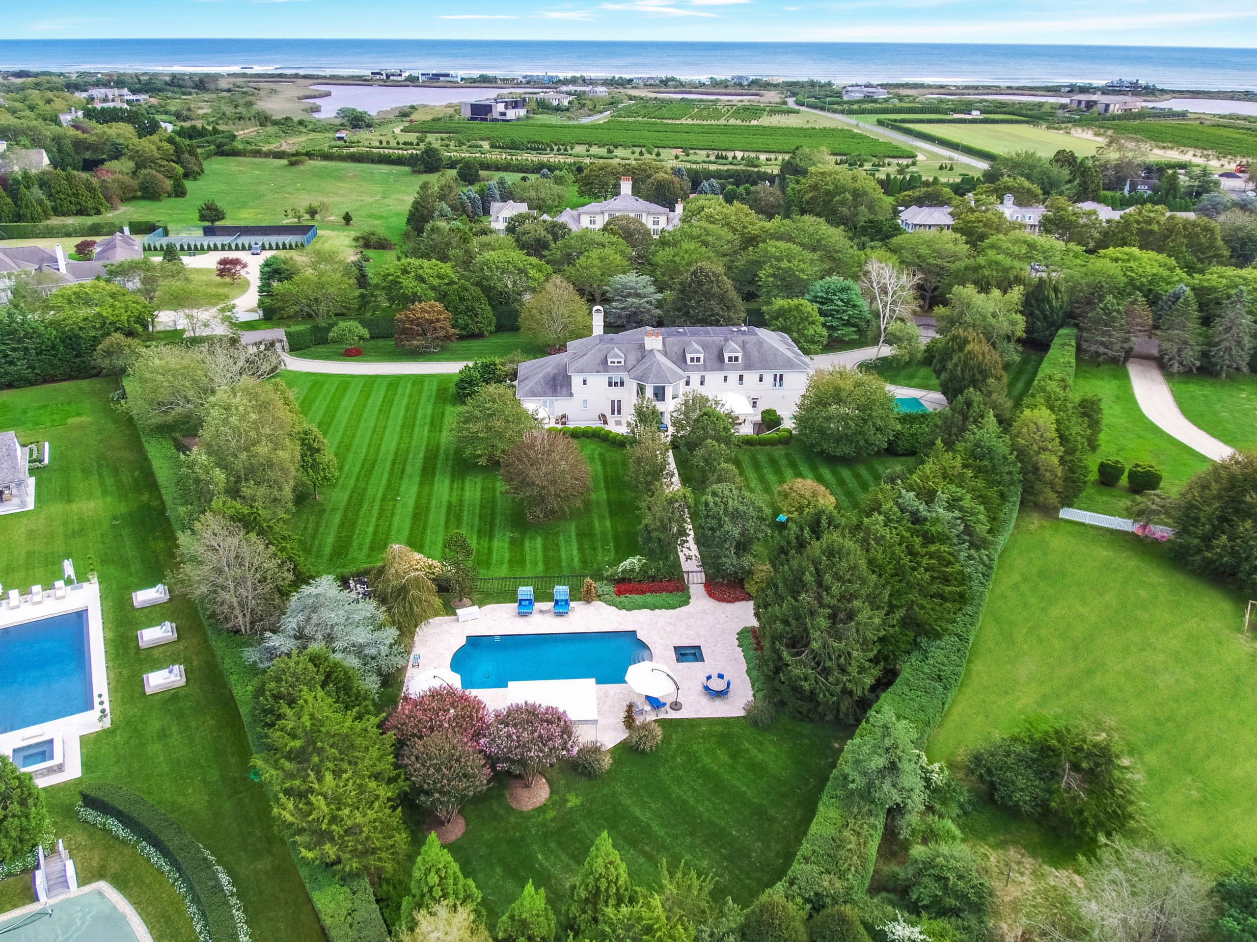 Recently sold for $9.45 million at 21 Fordune Drive in Southampton.