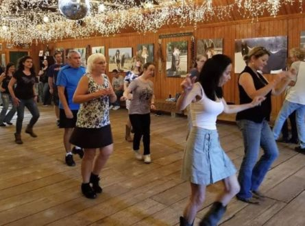 Country Line Dancing In The Barn!