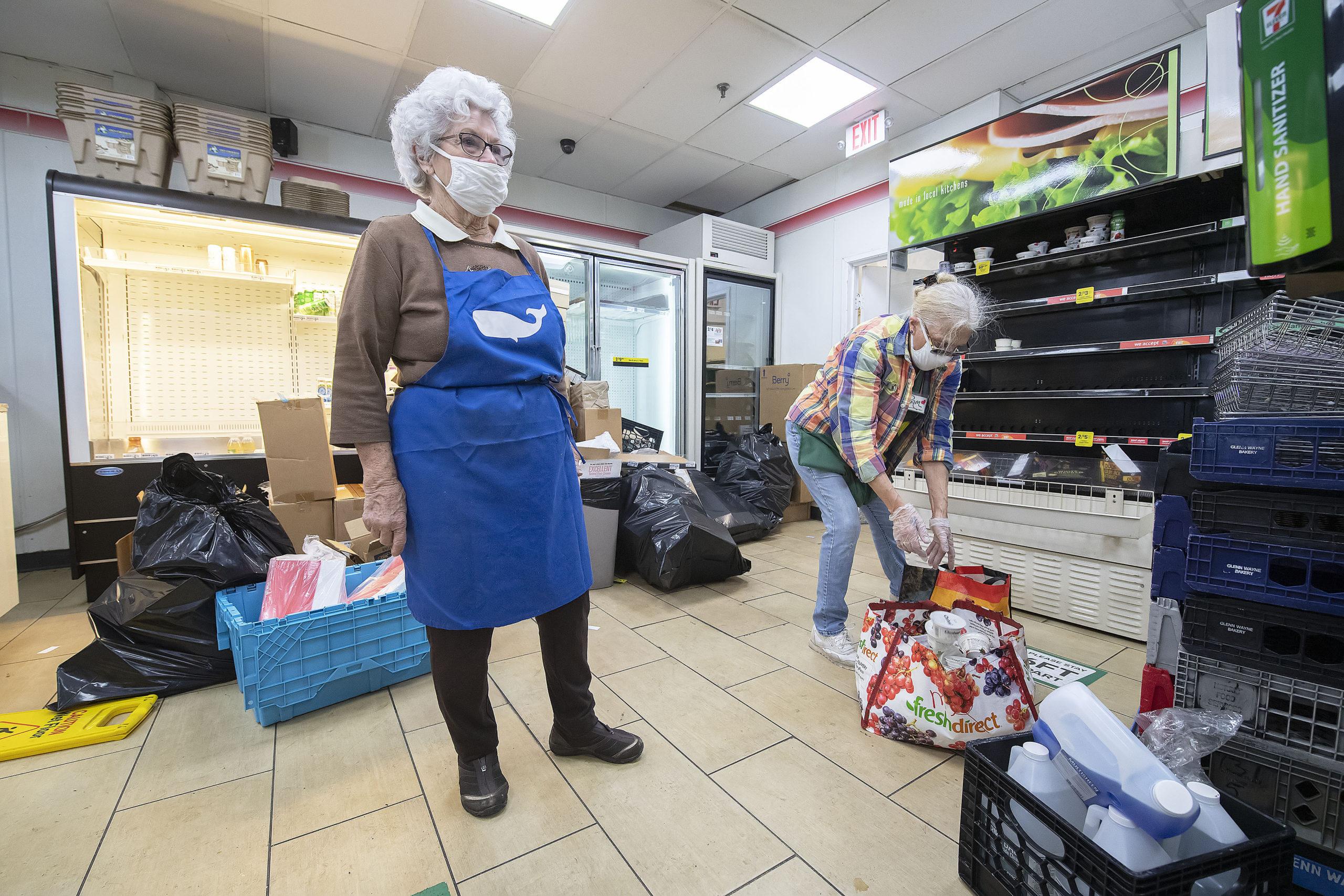 Sag Harbor Community Food Pantry's Volunteer Executive Director Evelyn