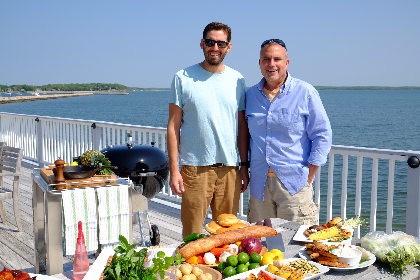 Alex Goetzfried George Hirsch on location Sag Harbor.