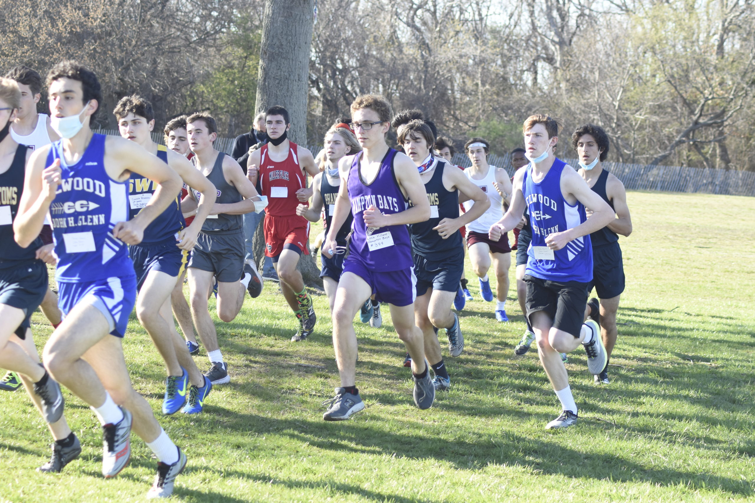 Luca Villano was the lone representative for Hampton Bays at Tuesday's Division IV race.