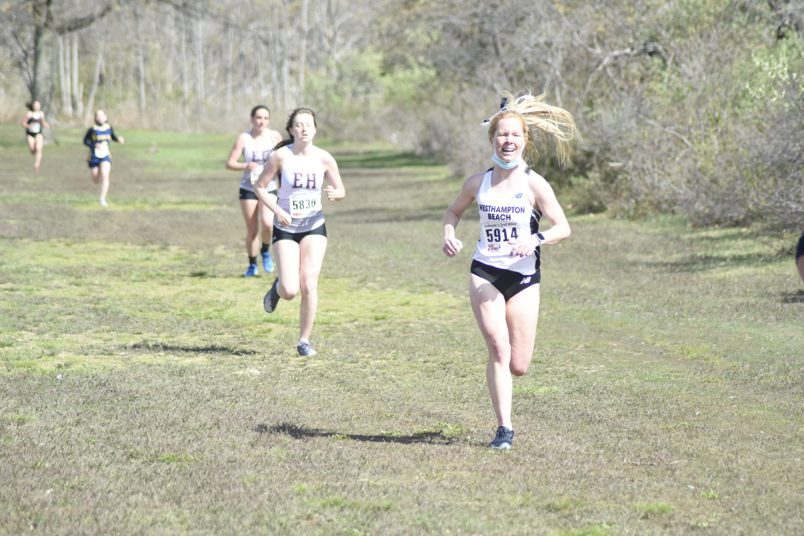 Kiera Falvey of Westhampton Beach heads toward the finish line.