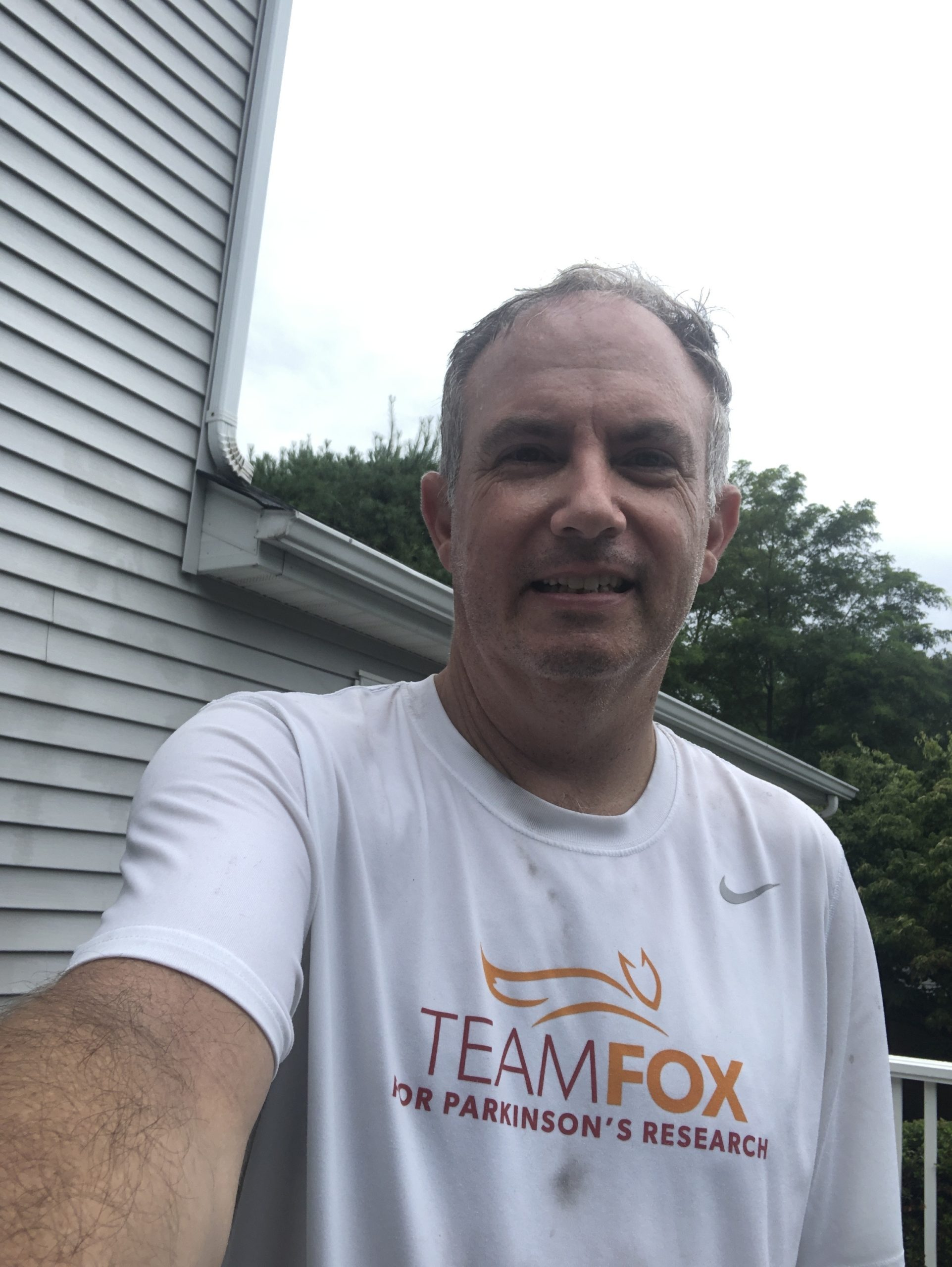 Bret Parker on July 31, 2020, after completing the last 31-mile bike ride of the Calendar Club challenge, totaling 496 miles that month.