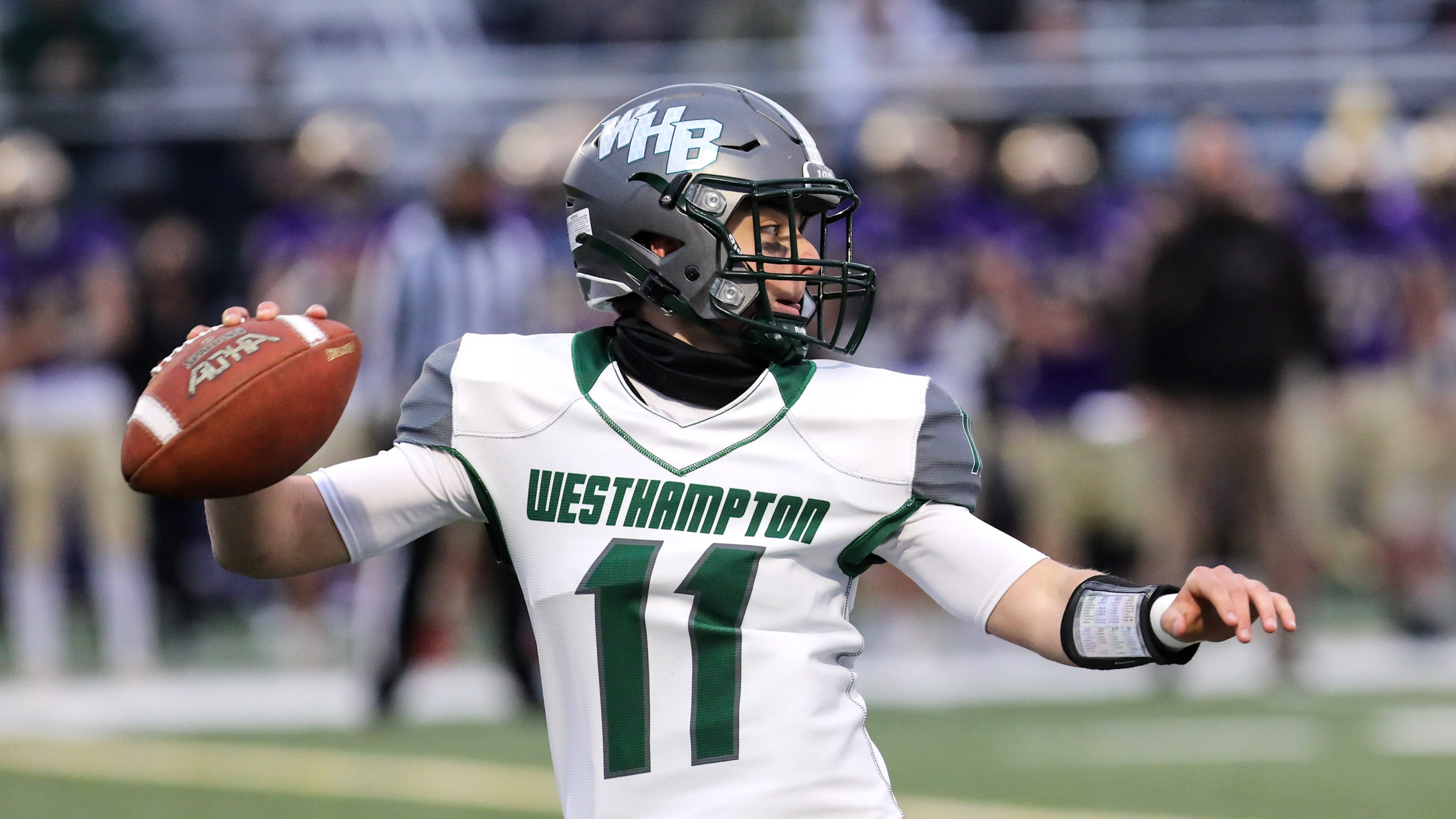 Westhampton Beach quarterback Christian Capuano finished 8 for 17 with 202 yards and two touchdowns.