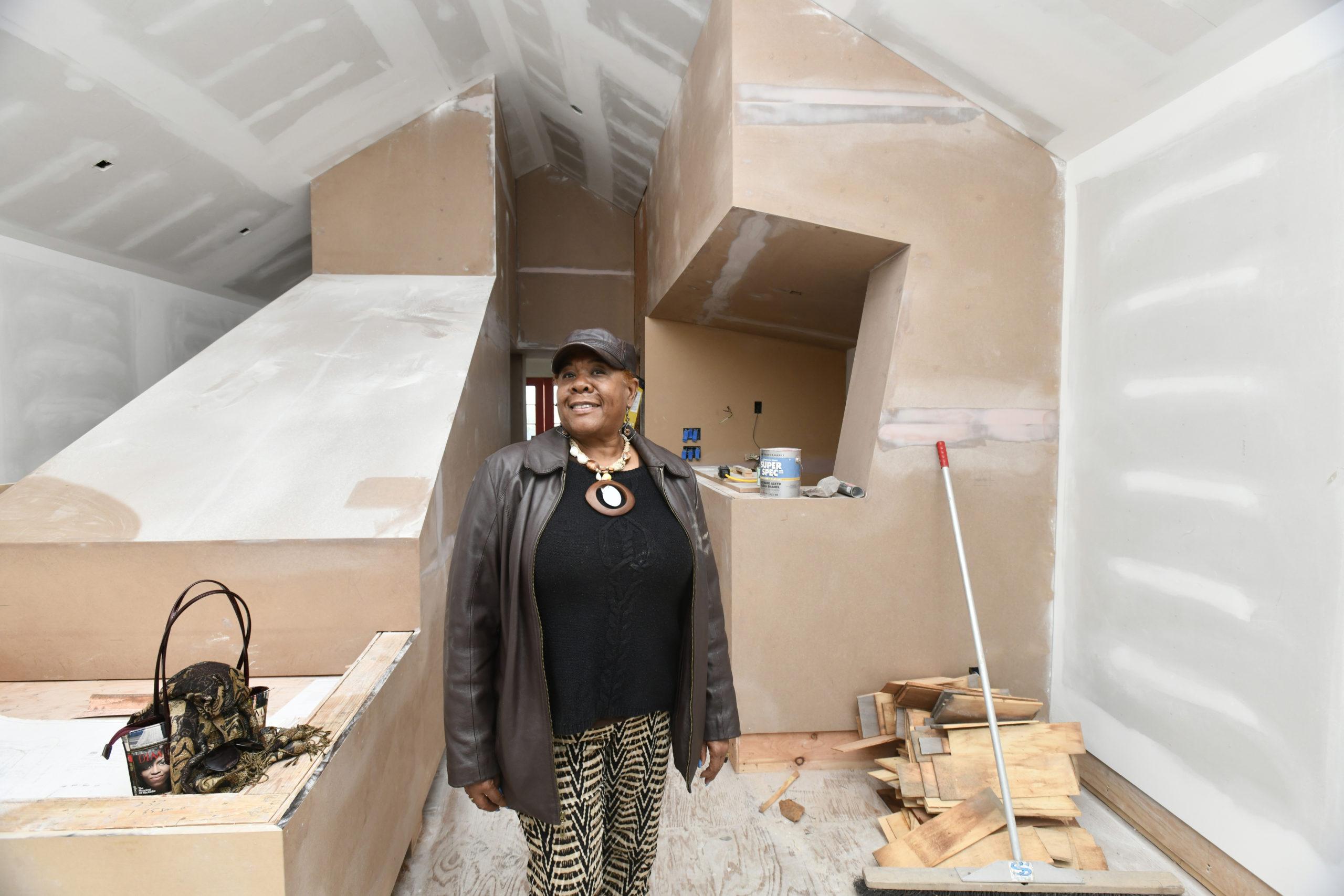 Brenda Simmons at the Southampton African American Museum in December of 2020.  DANA SHAW