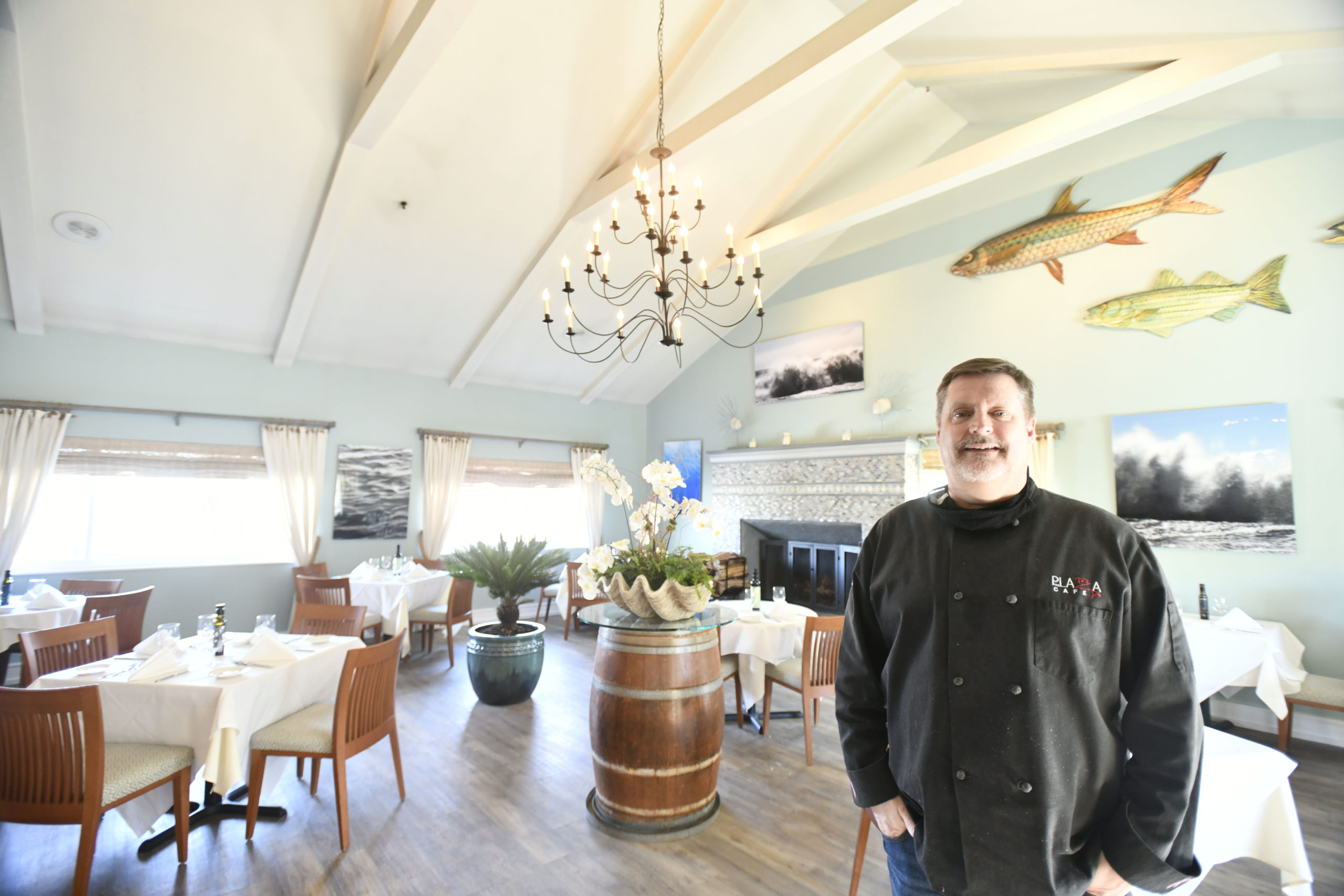 Doug Gulija, chef and owner of the Plaza Cafe in Southampton Village.