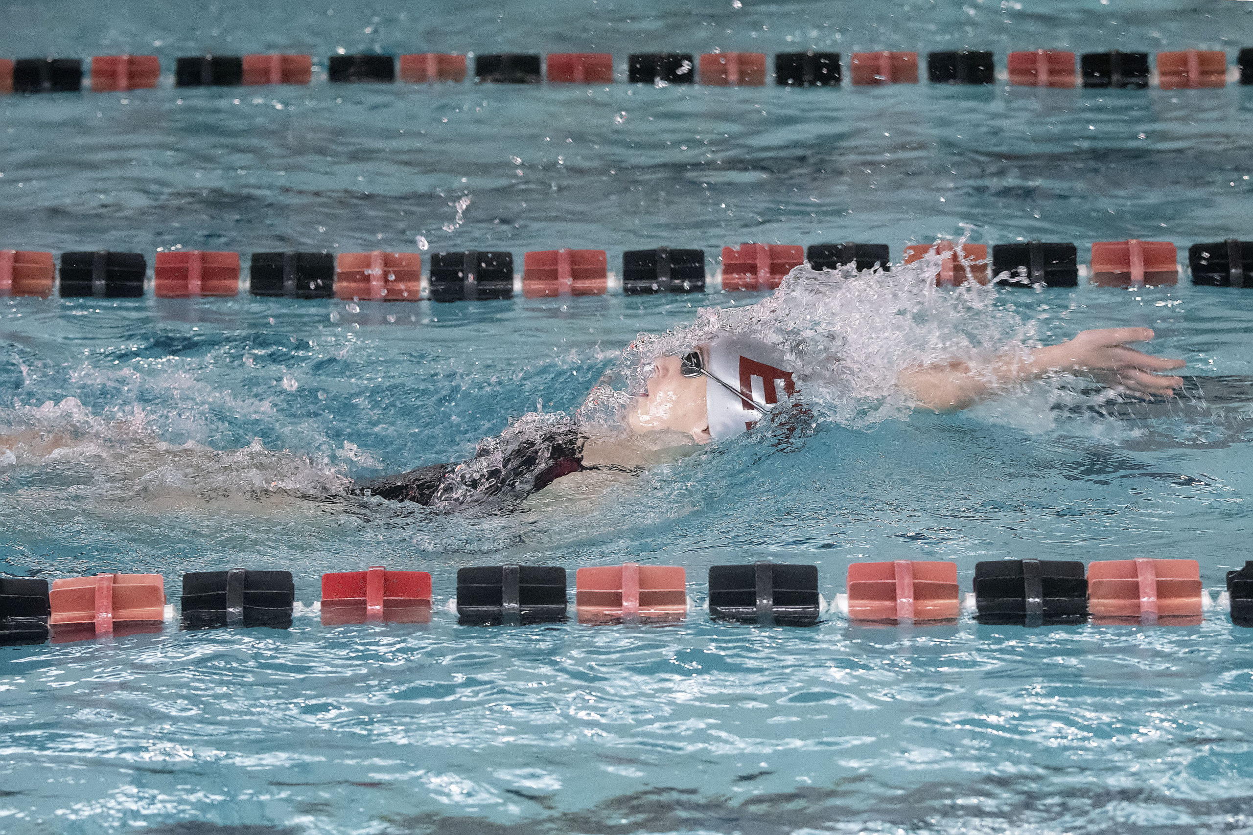 East Hampton's Jane Brierley competes in the 200-meter individual medley at the League III Championships against Lindenhurst on Friday.