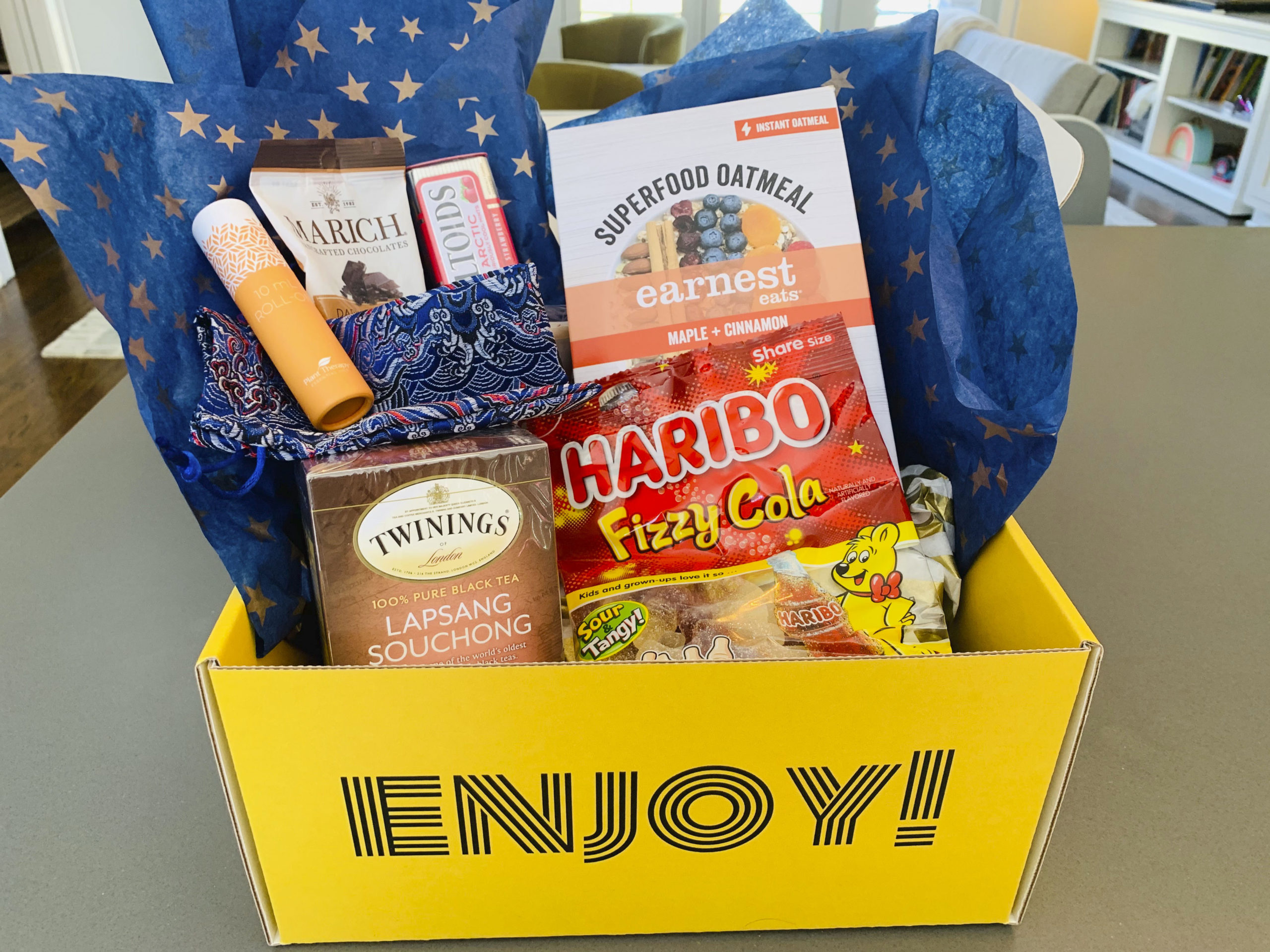 Customers who want to order a care package from Bundles of Joy can choose from several themed options, such as the