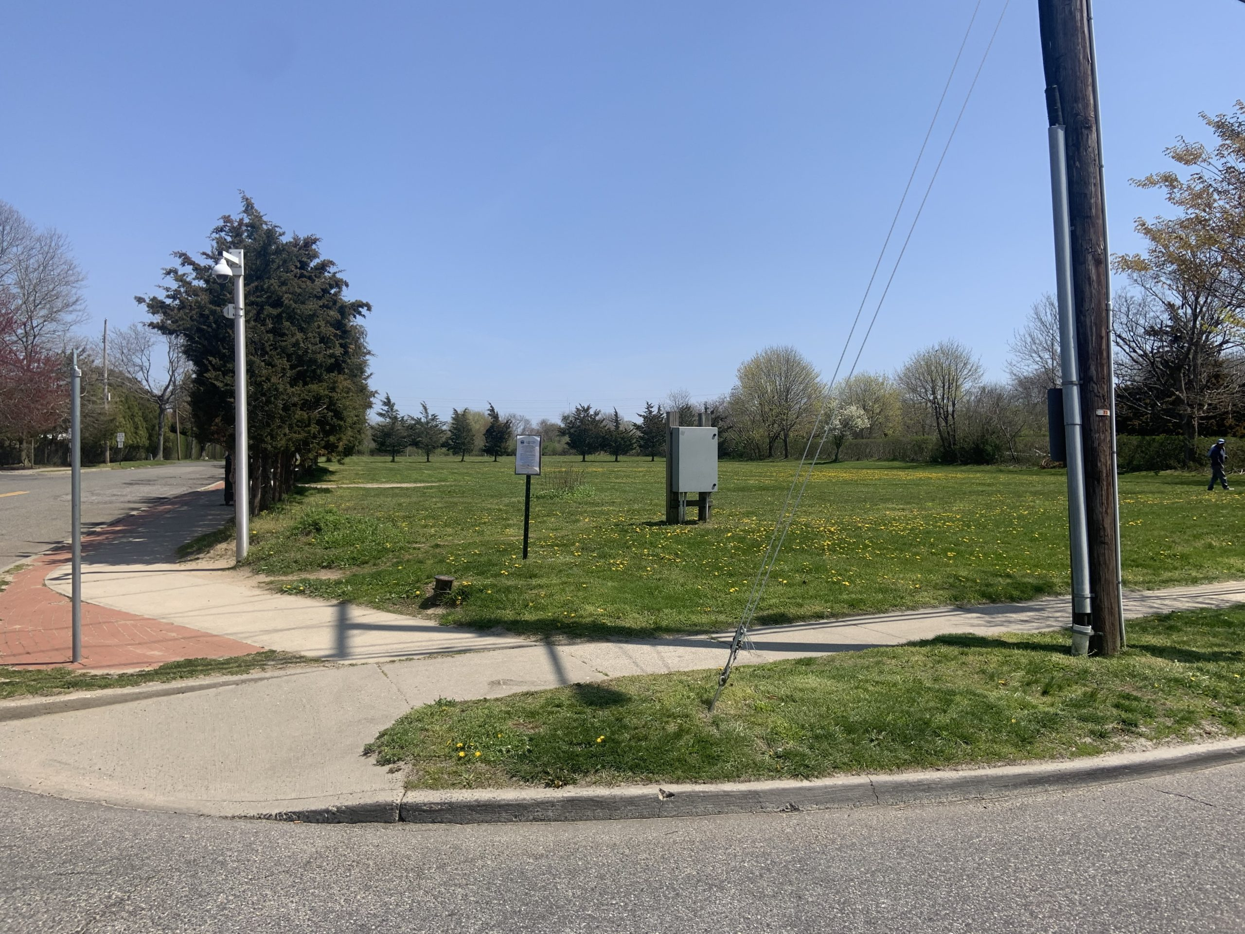 Southampton Village wants to plant some low-lying perennials at the corner of North Sea Road and Aldrich Lane. STEPHEN J. KOTZ