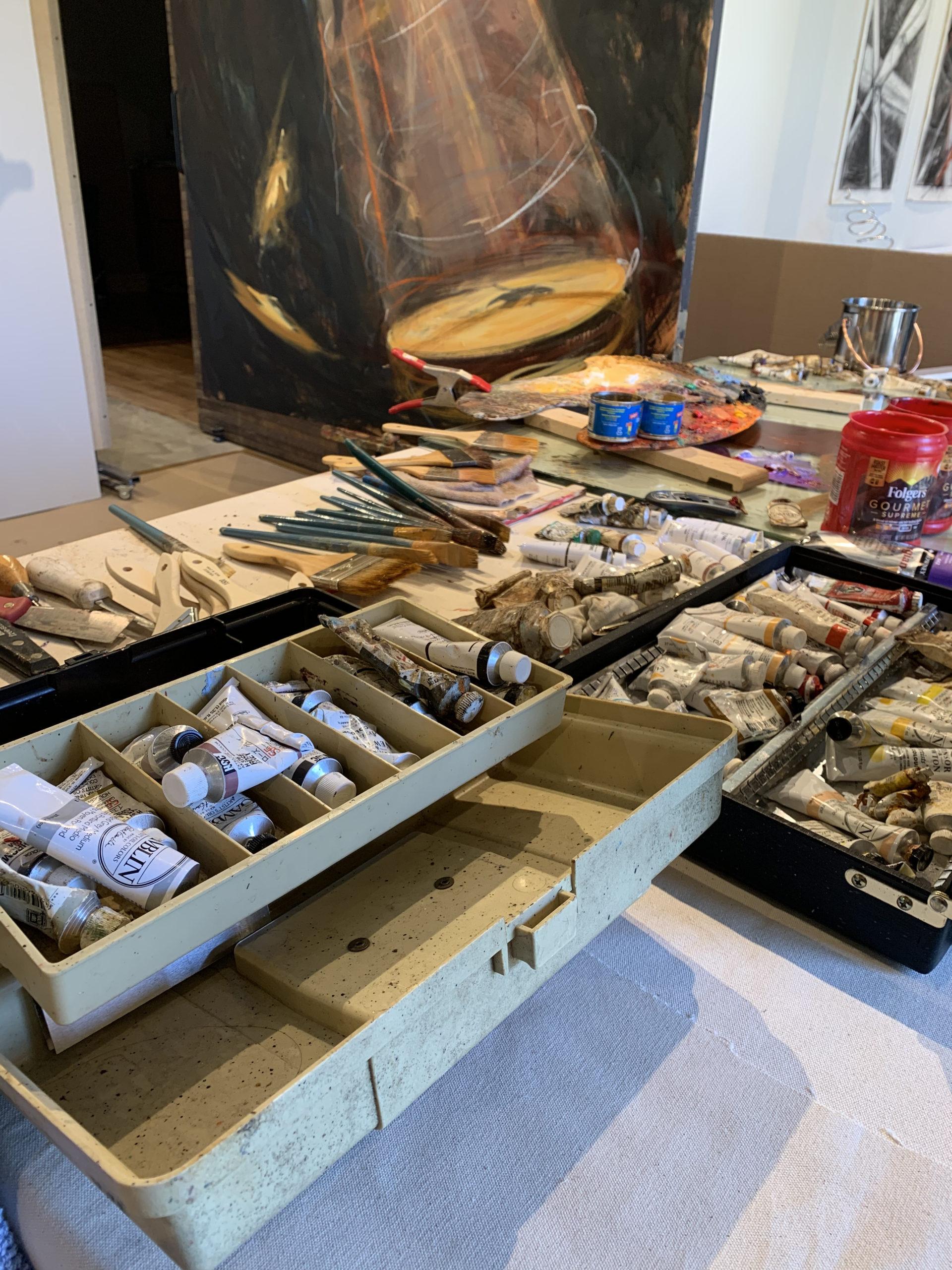 Jim Gingerich's working materials.