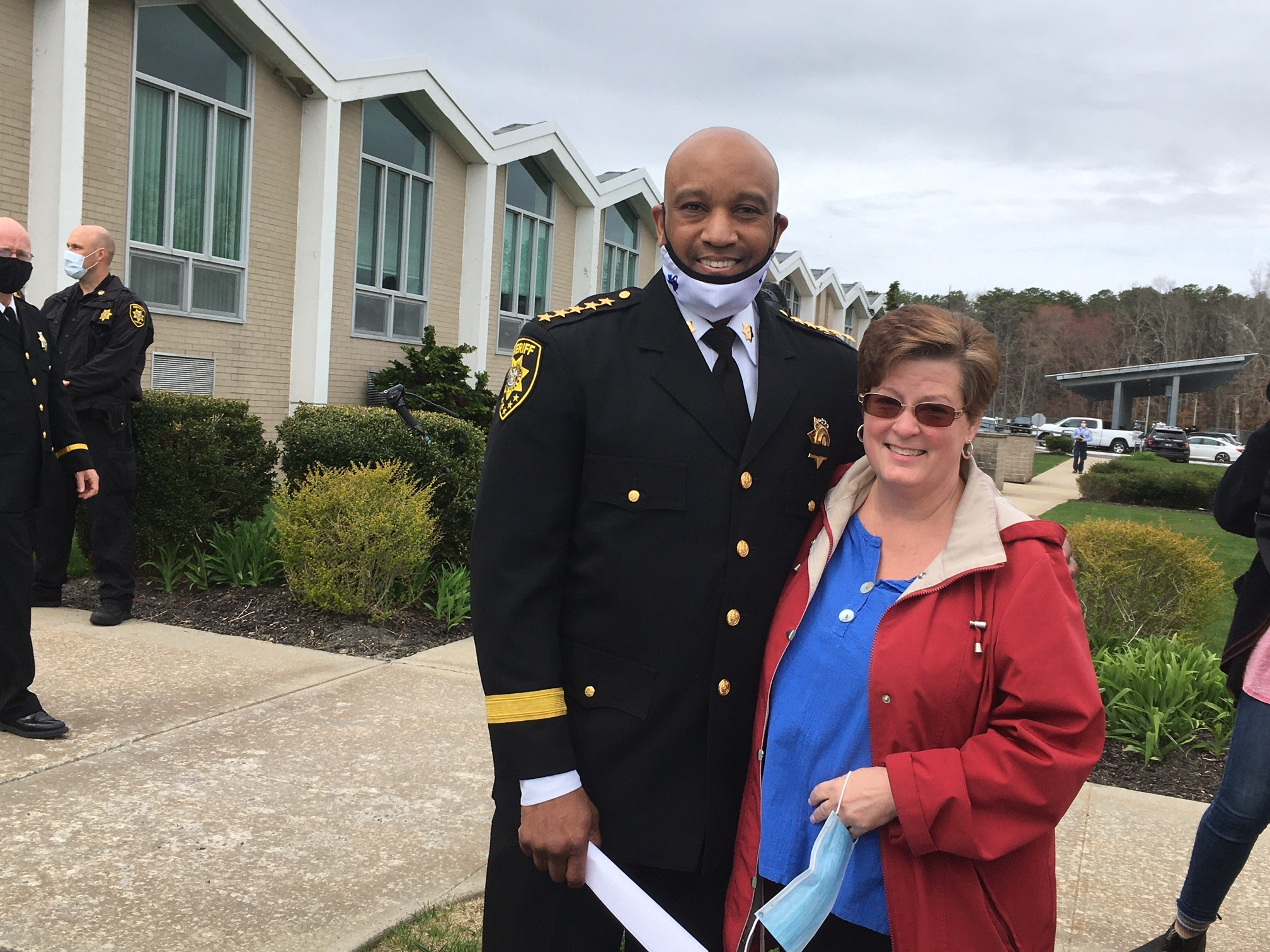 Sheriff Errol D. Toulon, Jr. with Stacey Reister