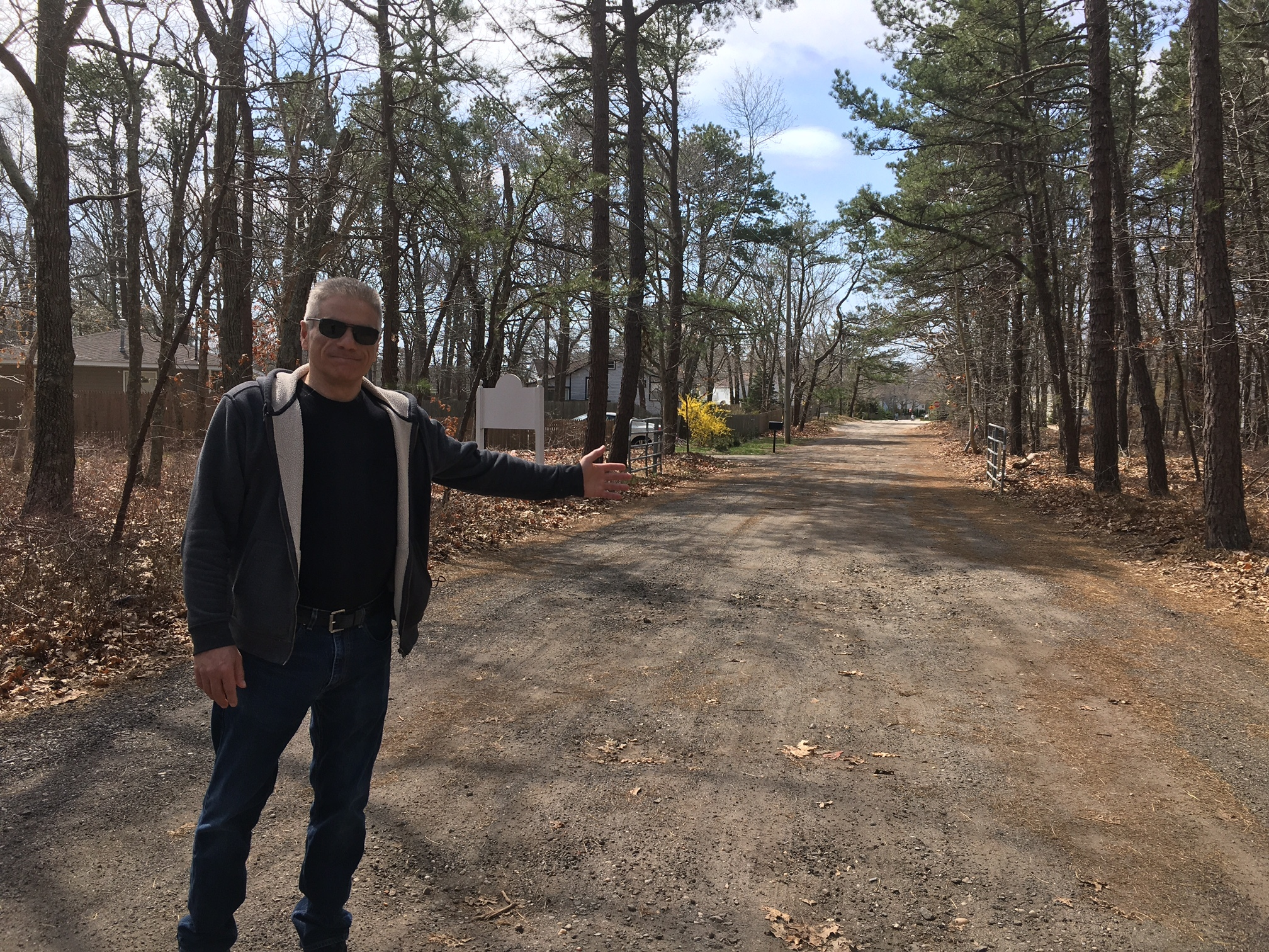 Flanders activist Vince Taldone pursued grants to fix the road to Iron Point Park.