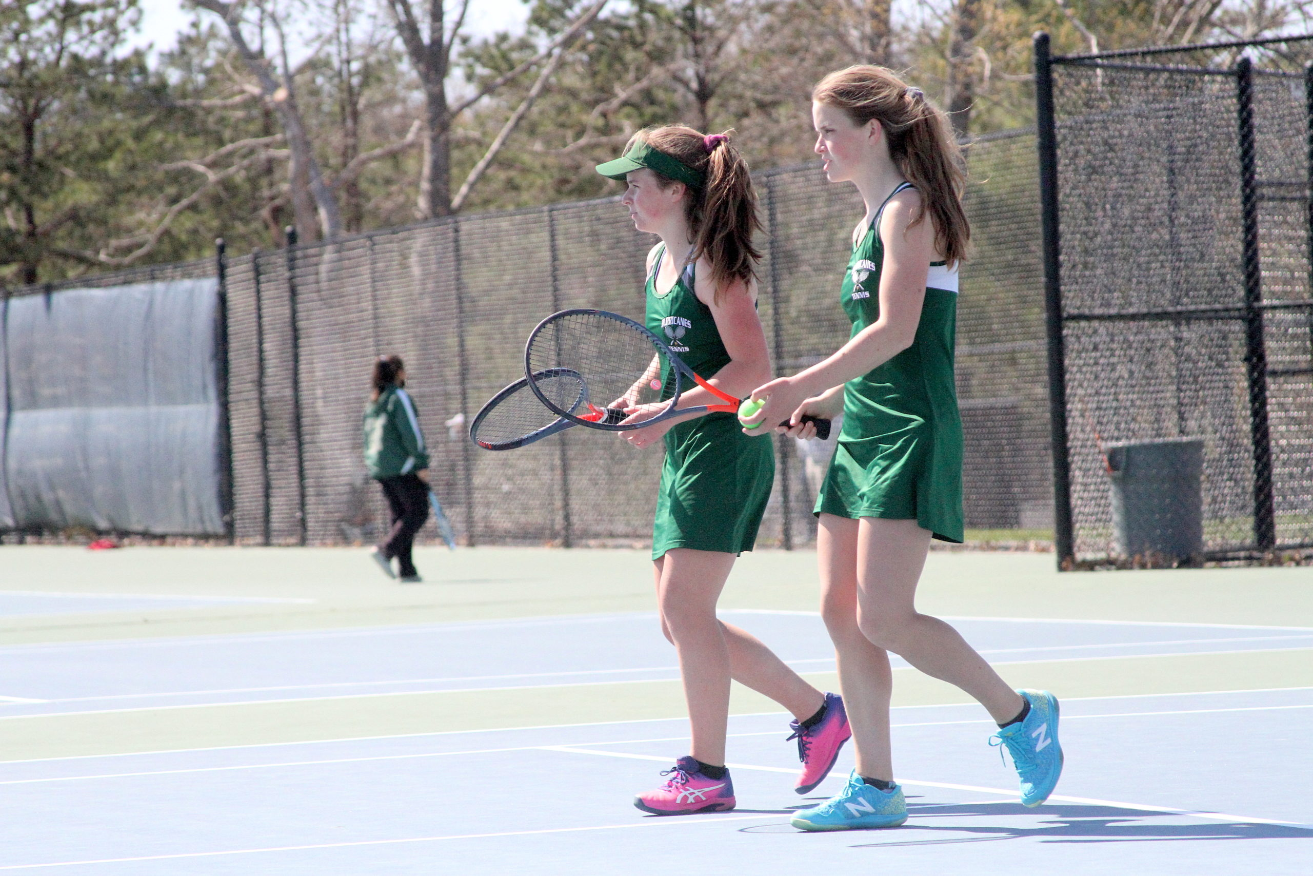 Westhampton Beach freshman Julia Stabile and older sister Katelyn placed second in the Suffolk County doubles championships.