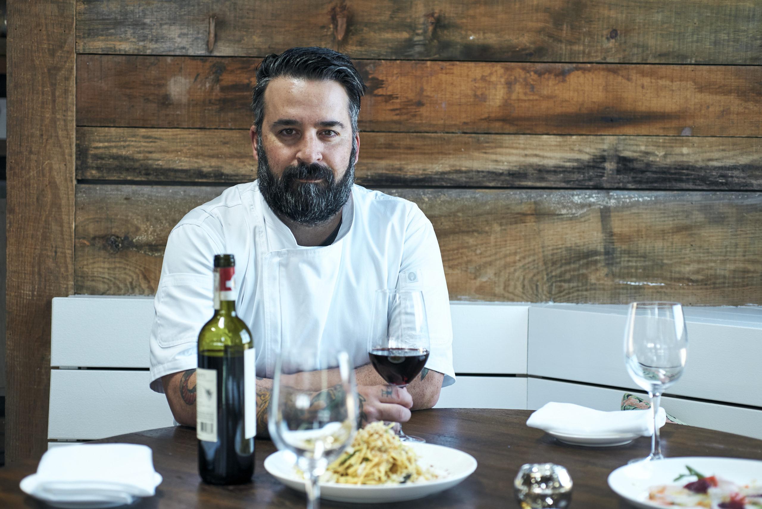 La Fin Kitchen & Lounge's executive chef James Tchinnis.