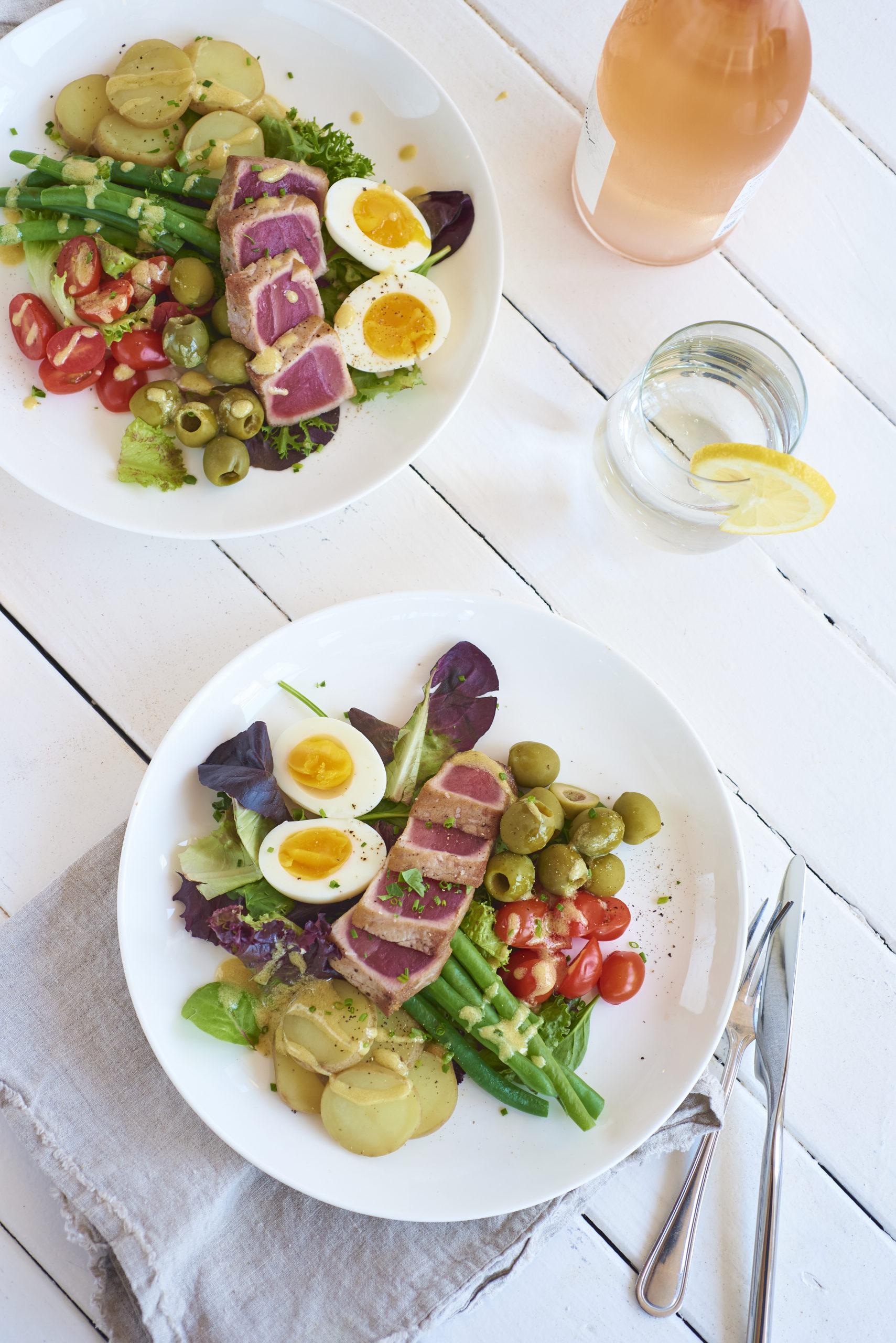 Salad nicoise at La Fin Kitchen & Lounge in Montauk.